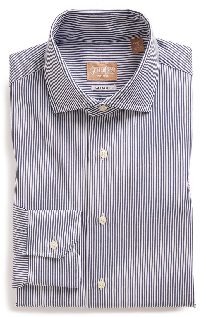 Gitman tailored fit stripe dress shirt nordstrom for Nordstrom custom dress shirts