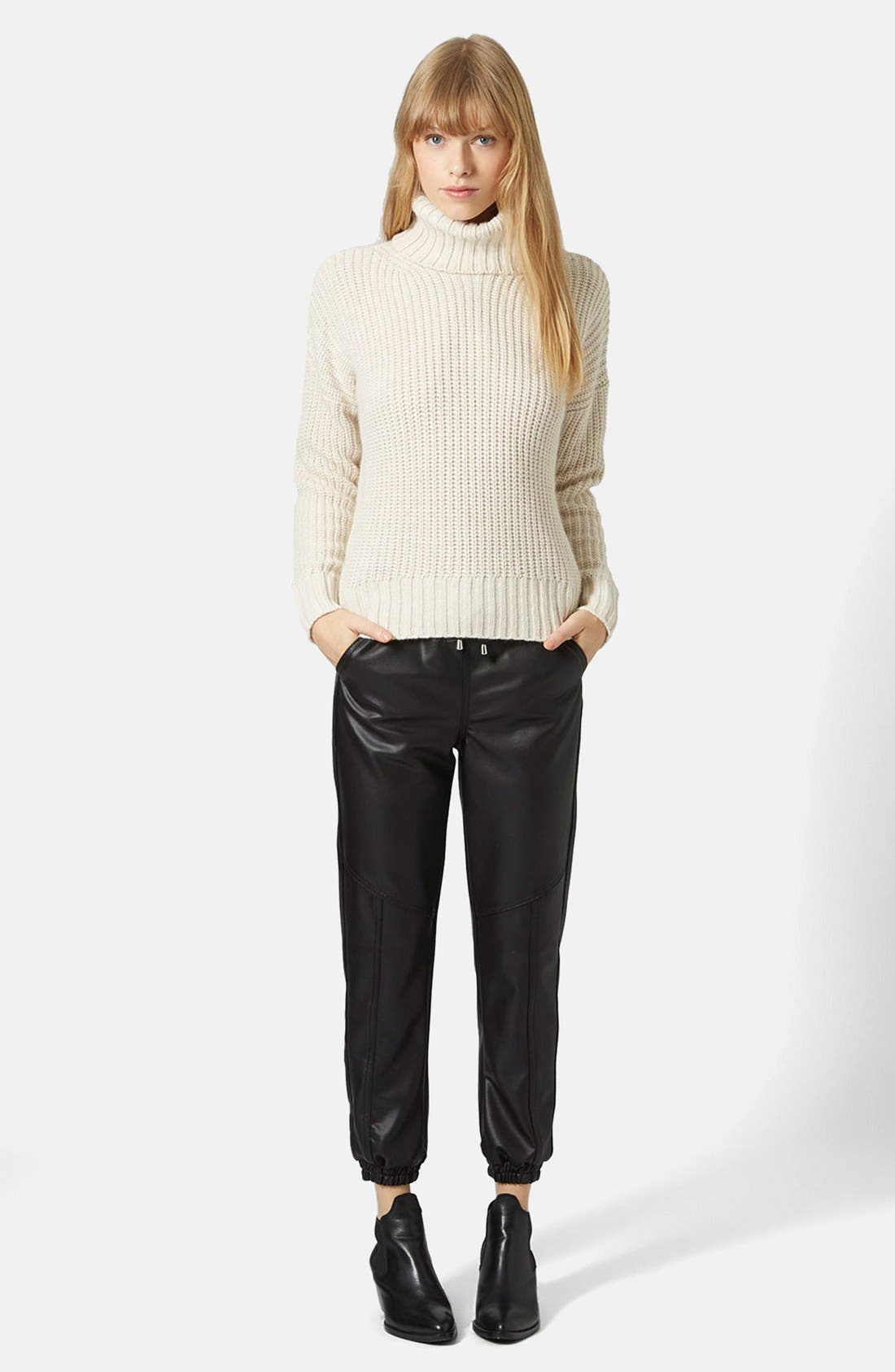 Alternate Image 5  - Topshop Chunky Ribbed Turtleneck Sweater
