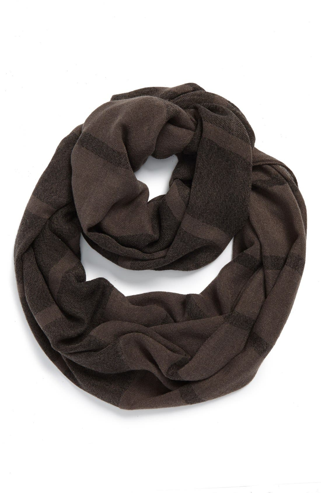 Alternate Image 1 Selected - David & Young Plaid Infinity Scarf (Juniors)