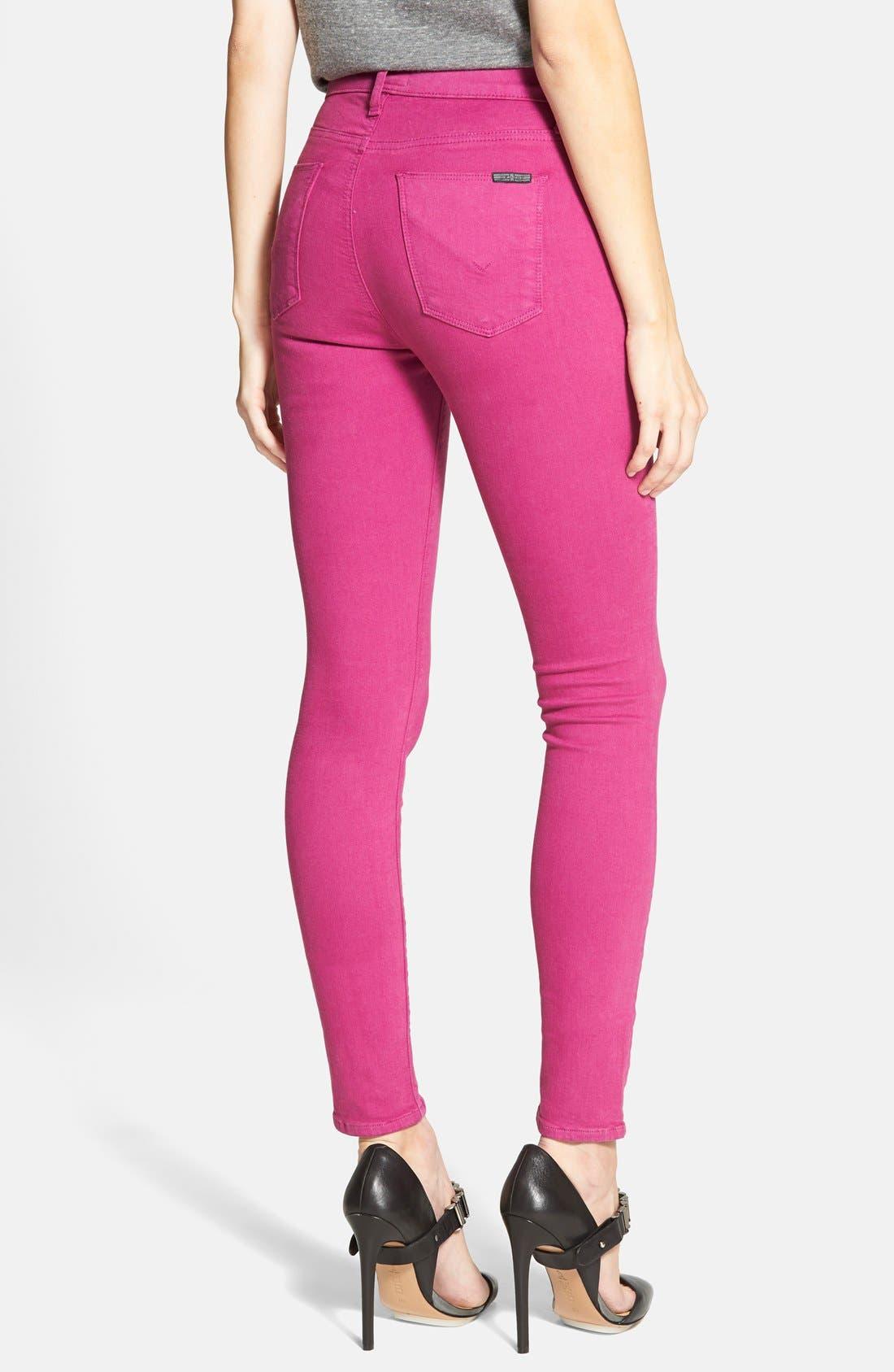 Alternate Image 2  - Hudson Jeans 'Krista' Super Skinny Jeans (Bright Hydrangea)