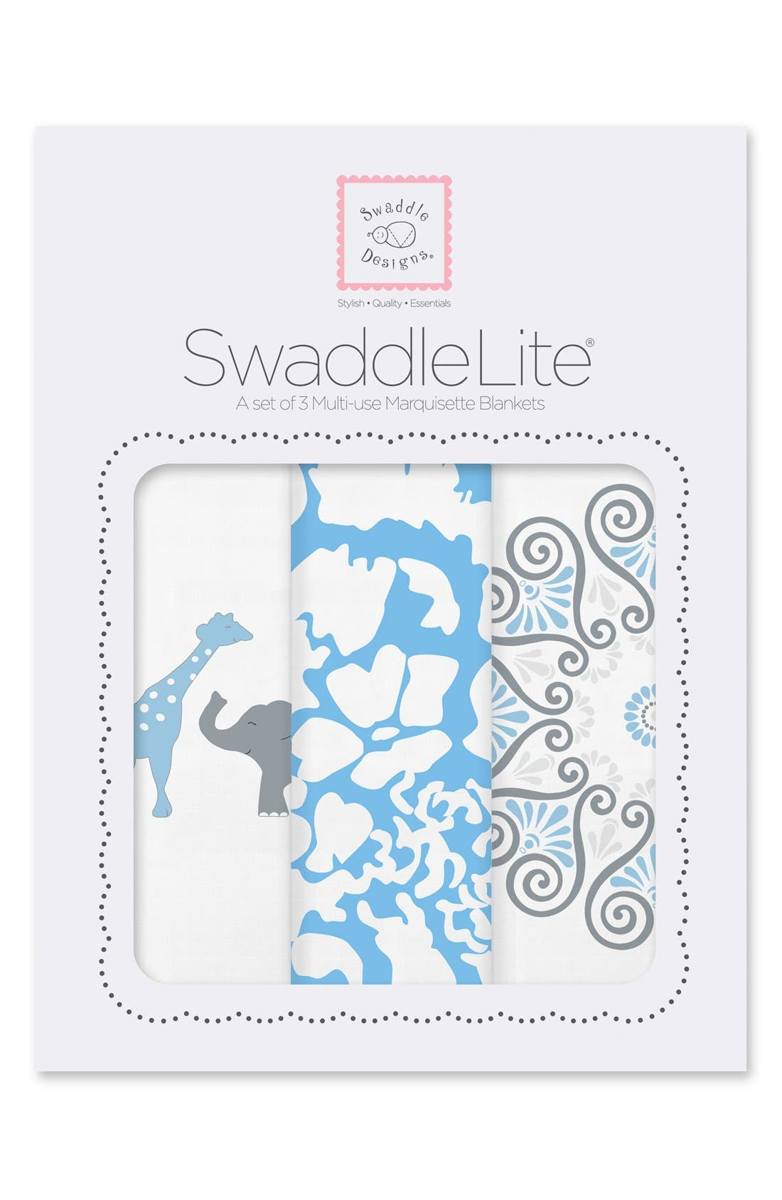Main Image - Swaddle Designs 'Swaddle Lite - Lush' Marquisette Blanket (Set of 3)