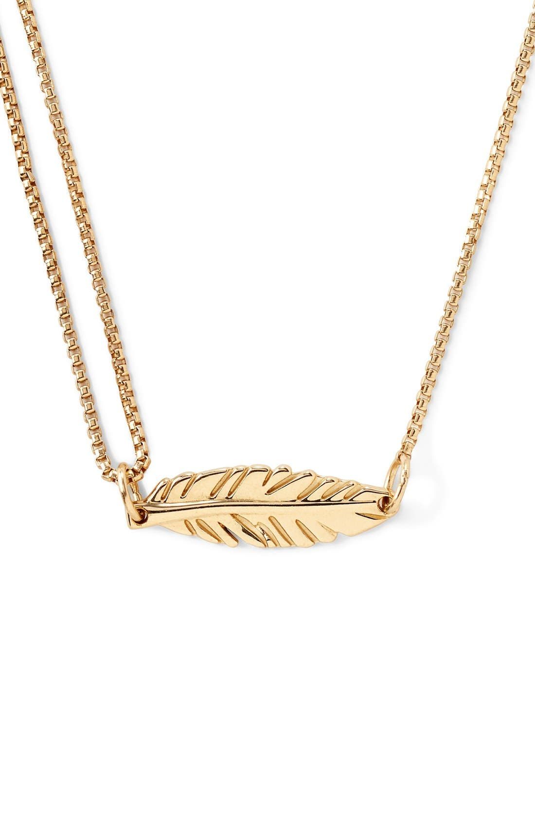 Alternate Image 1 Selected - Alex and Ani 'Providence' Pull Chain Feather Pendant Necklace
