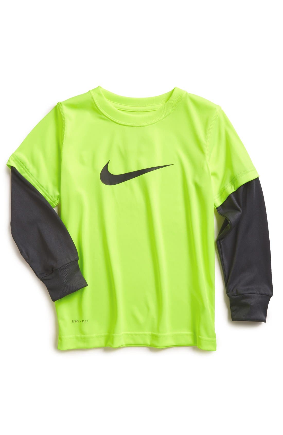 Alternate Image 1 Selected - Nike 'Legend' Layered Sleeve T-Shirt (Little Boys)