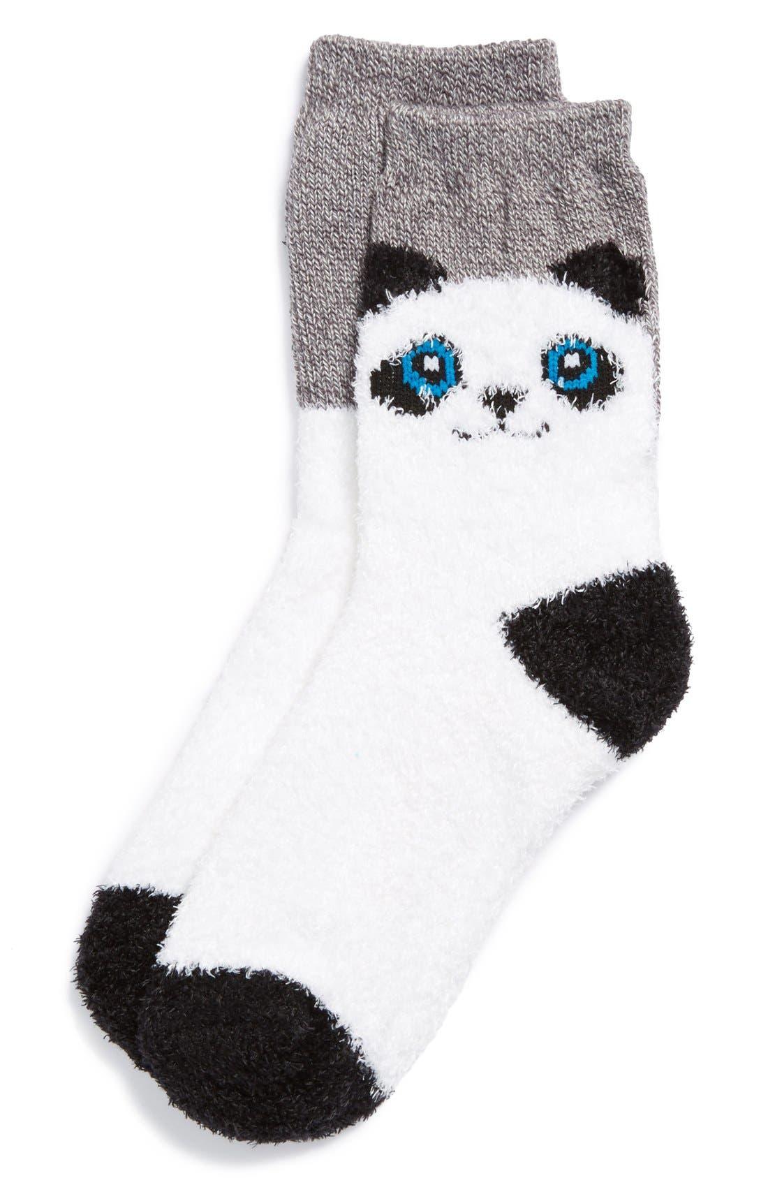Alternate Image 1 Selected - Capelli of New York 'Sleepy Panda' Socks (Juniors)