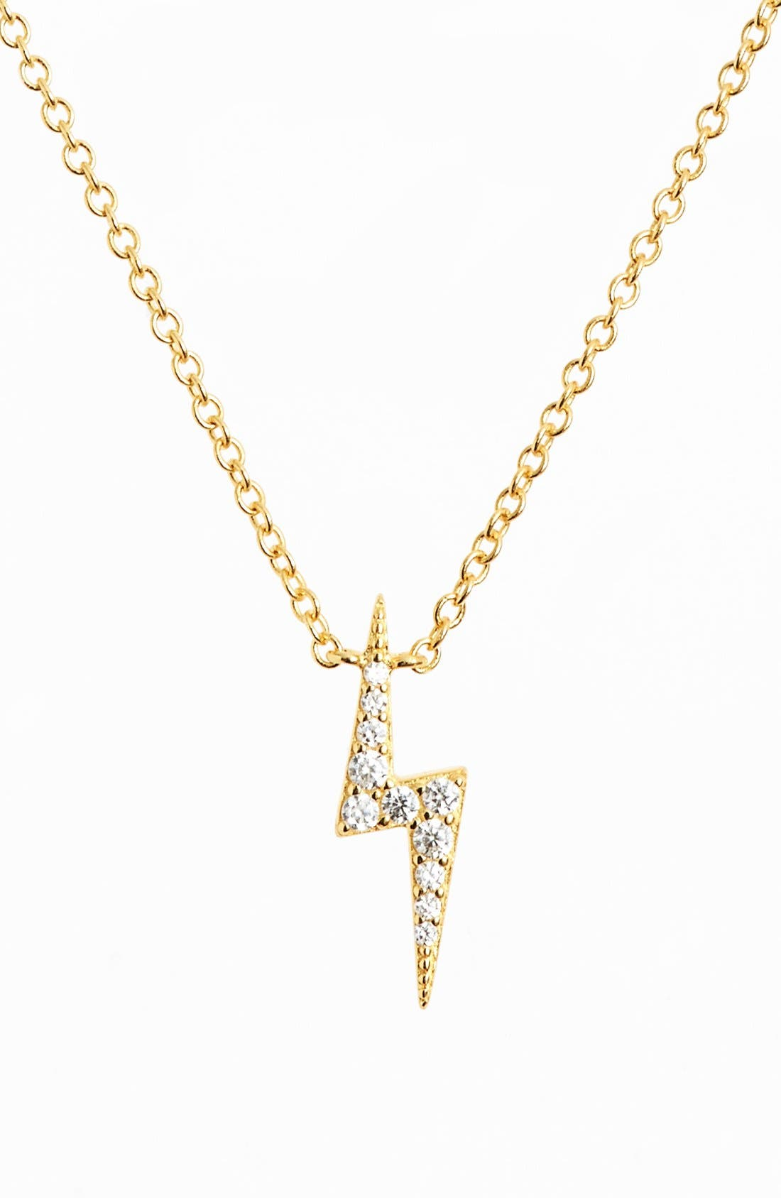 Main Image - Sugar Bean Jewelry Lightning Bolt Pendant Necklace