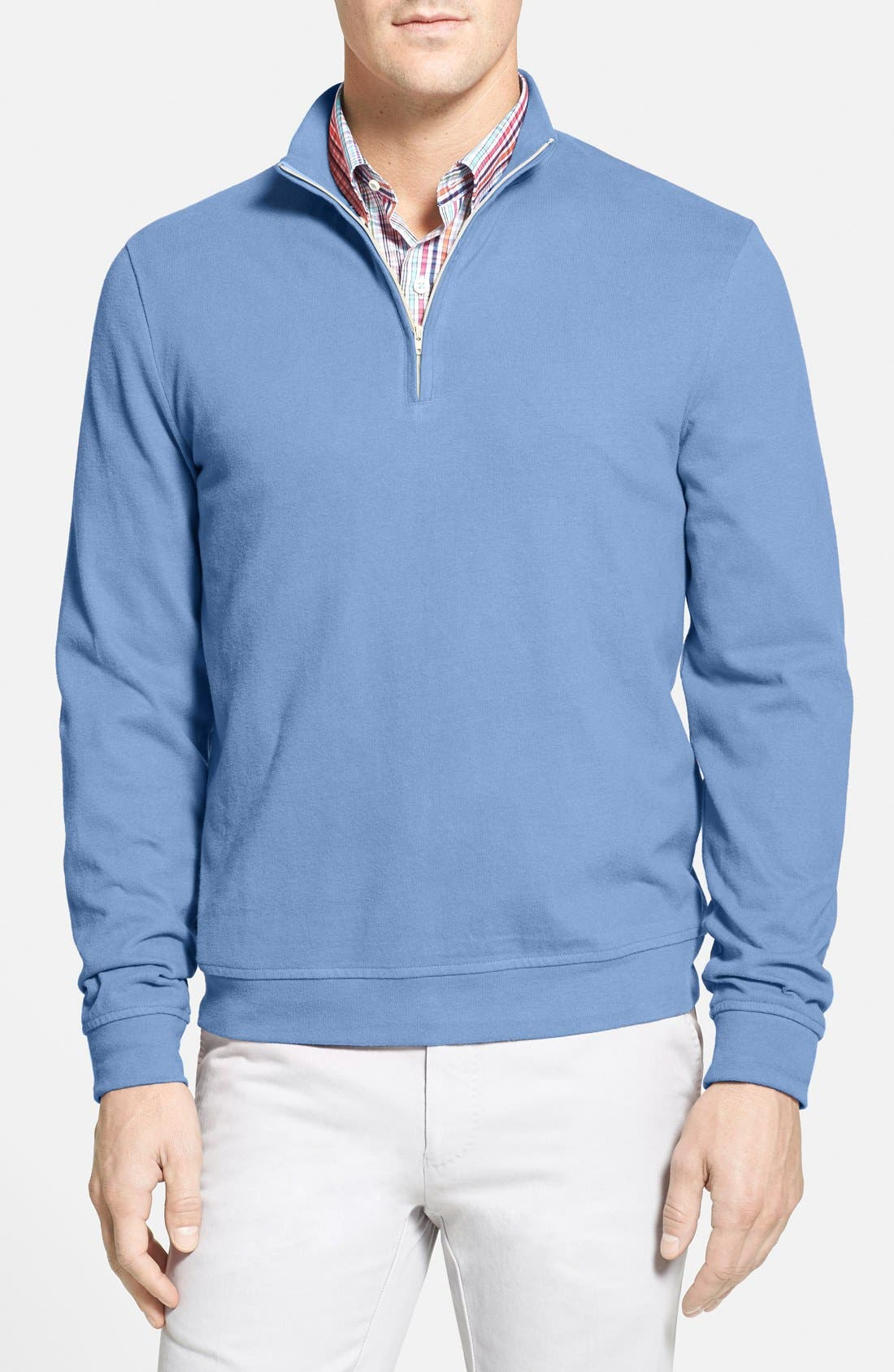 Alternate Image 1 Selected - Nordstrom Quarter Zip Cotton Pullover