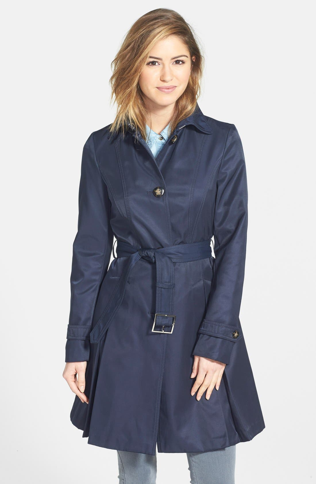 Alternate Image 1 Selected - Laundry by Shelli Segal Skirted Trench Coat