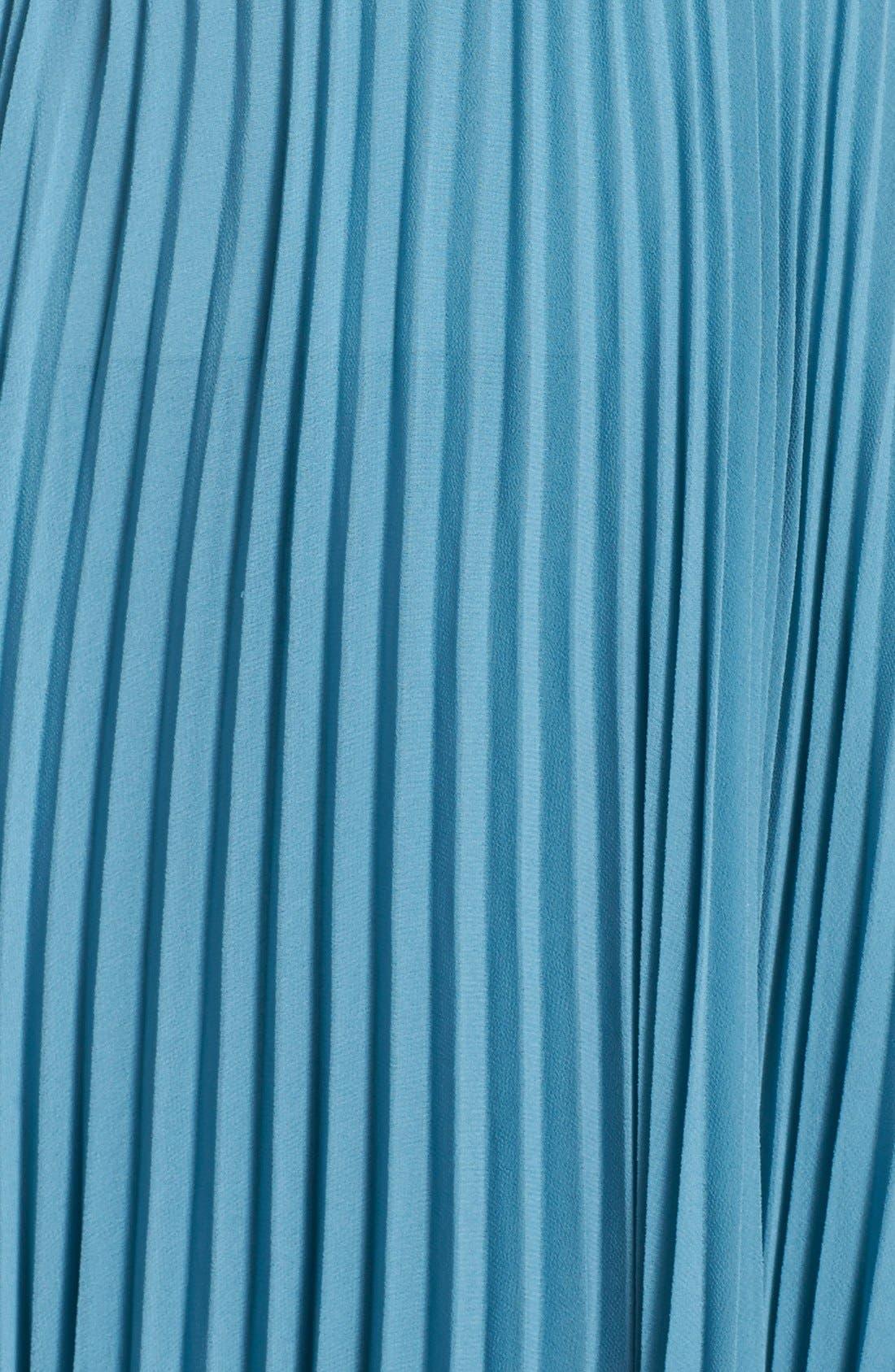 Alternate Image 3  - Vera Wang Pleated Chiffon Gown