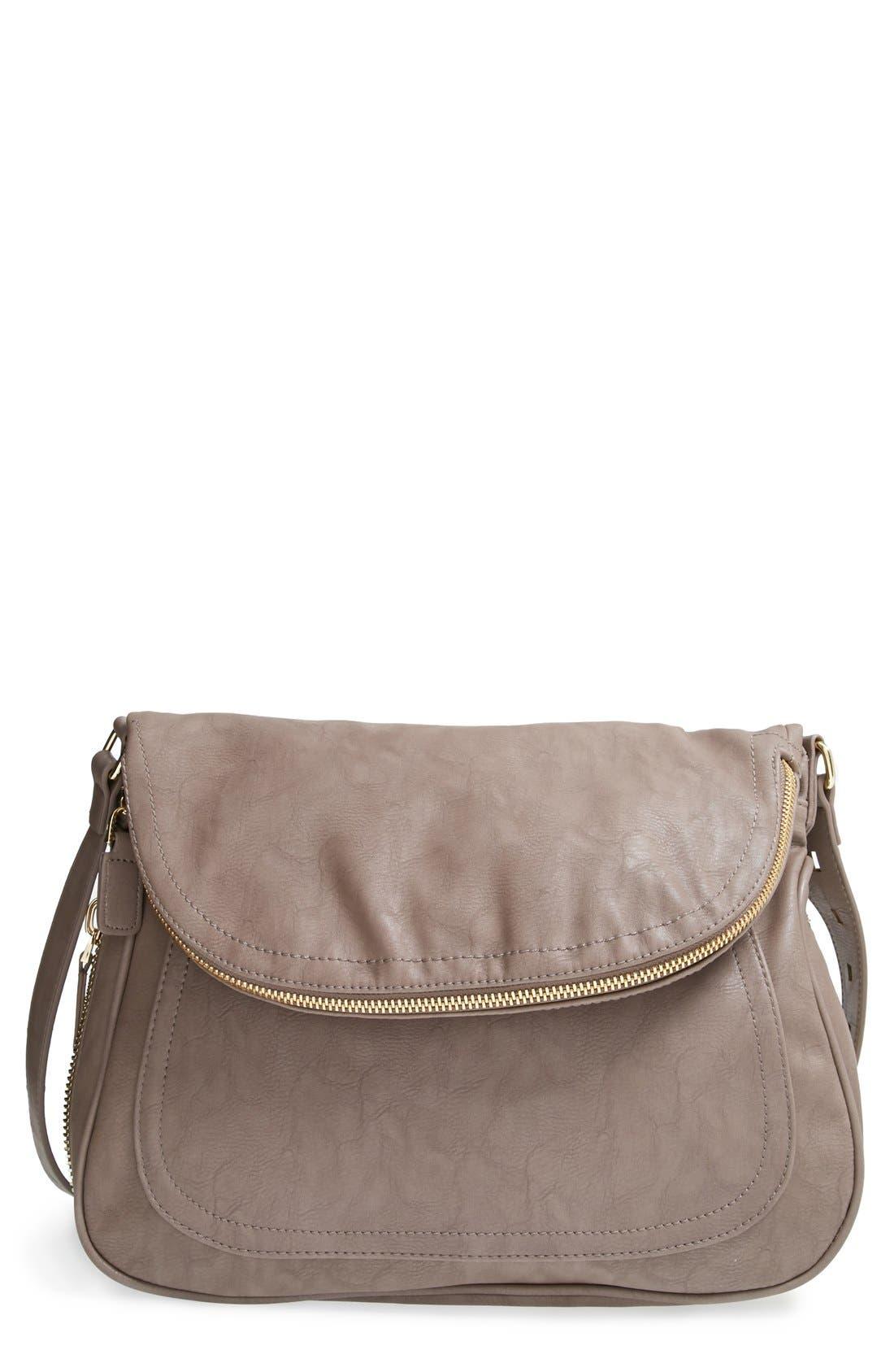 Main Image - Big Buddha 'Jarianna' Faux Leather Messenger Bag