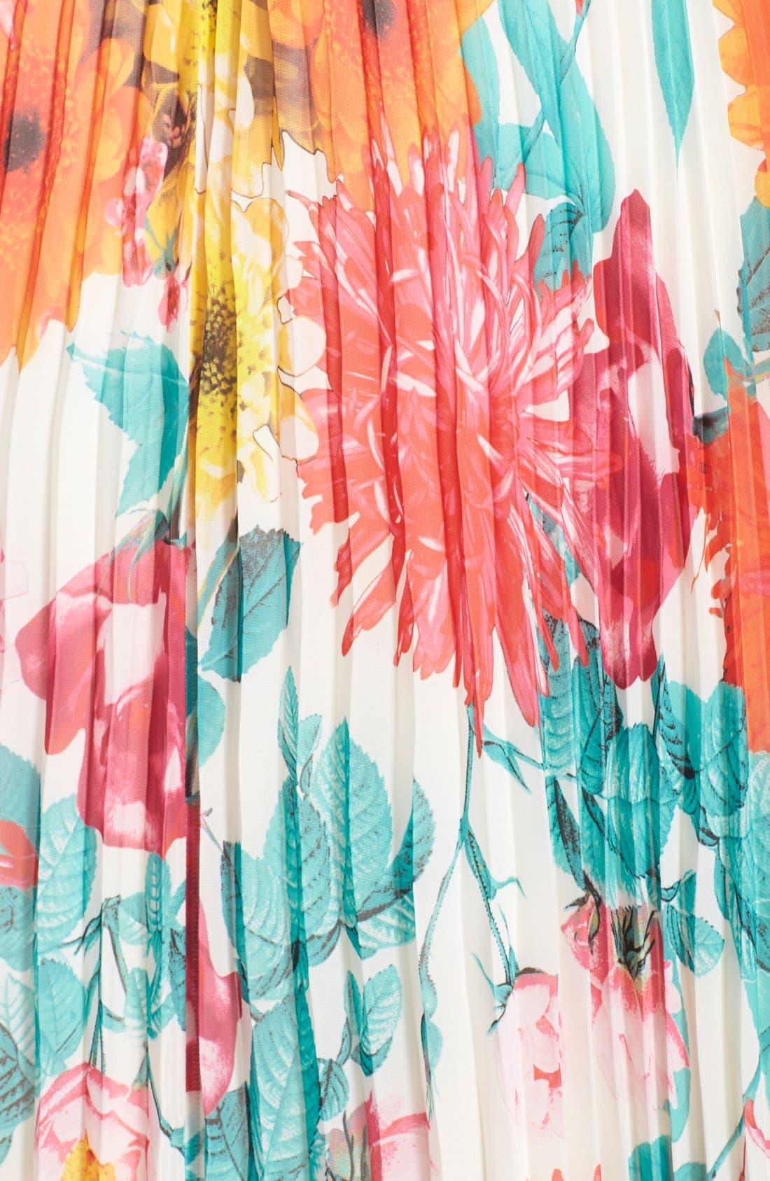 Alternate Image 3  - Eliza J Belted Floral Print Chiffon Maxi Dress (Regular & Petite)