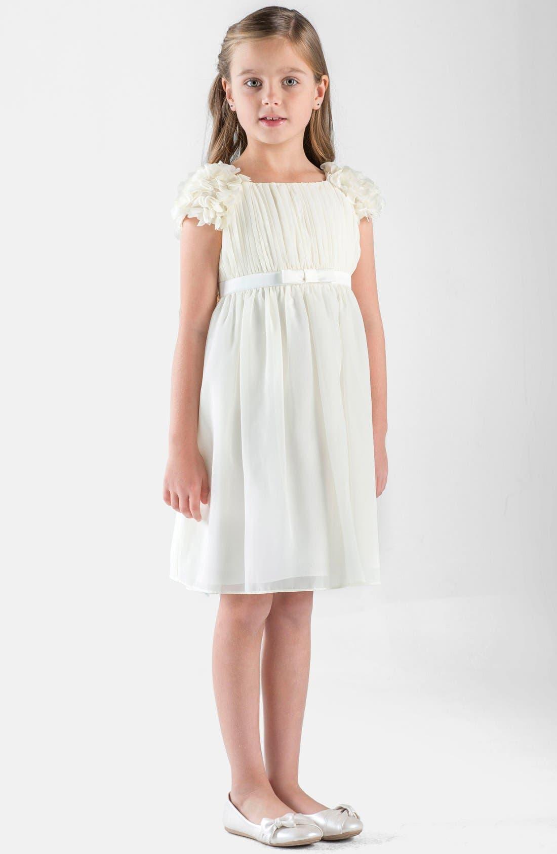 Us Angels Petal Sleeve Chiffon Dress (Little Girls & Big Girls)