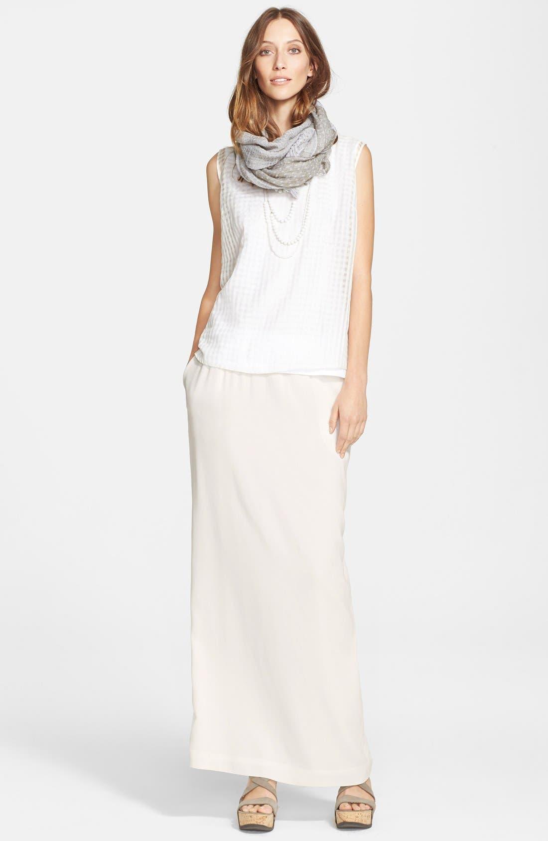 Alternate Image 6  - Fabiana Filippi Silk Maxi Skirt