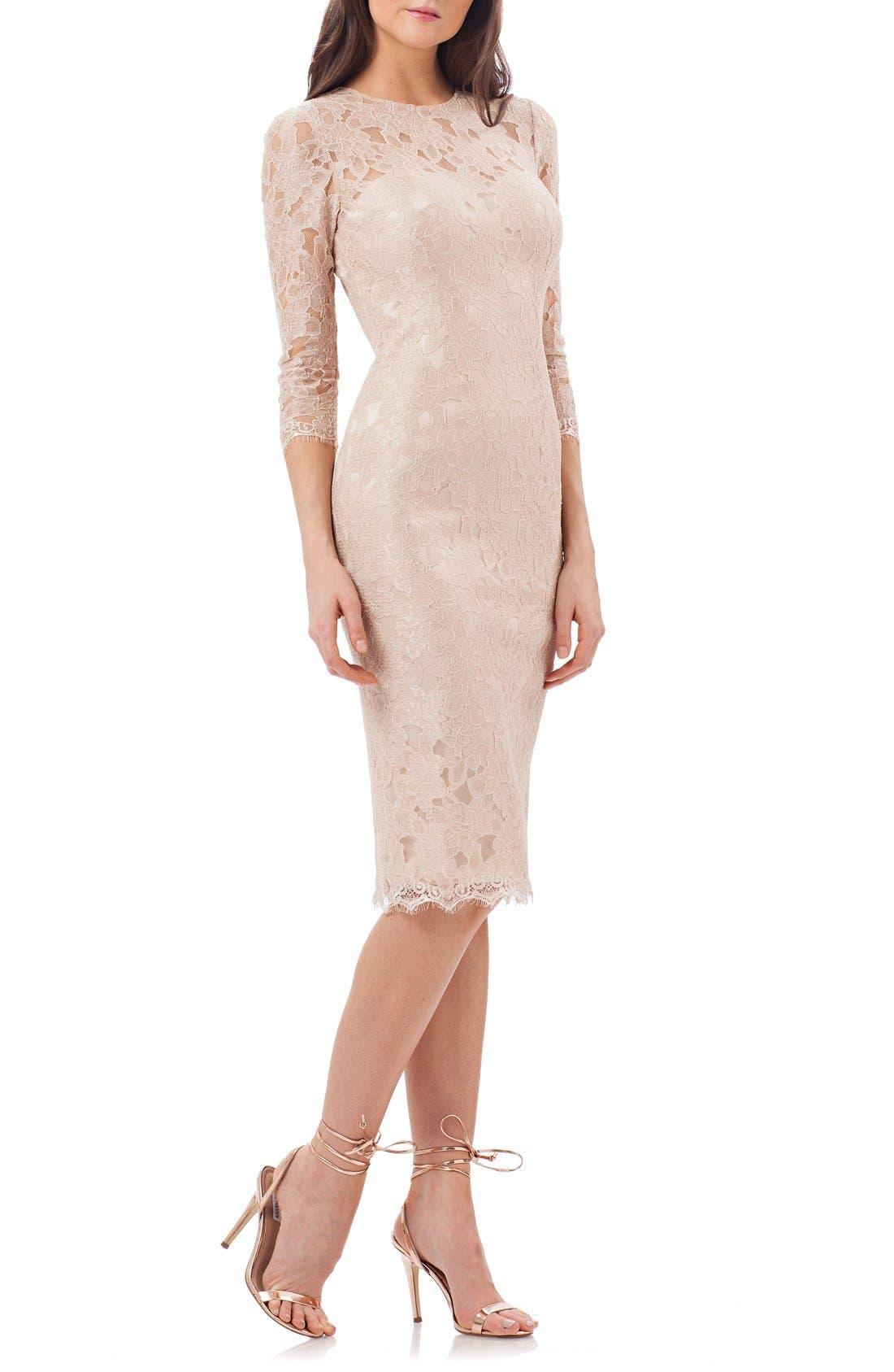 Alternate Image 1 Selected - JS Collections Lace Sheath Dress (Regular & Petite)