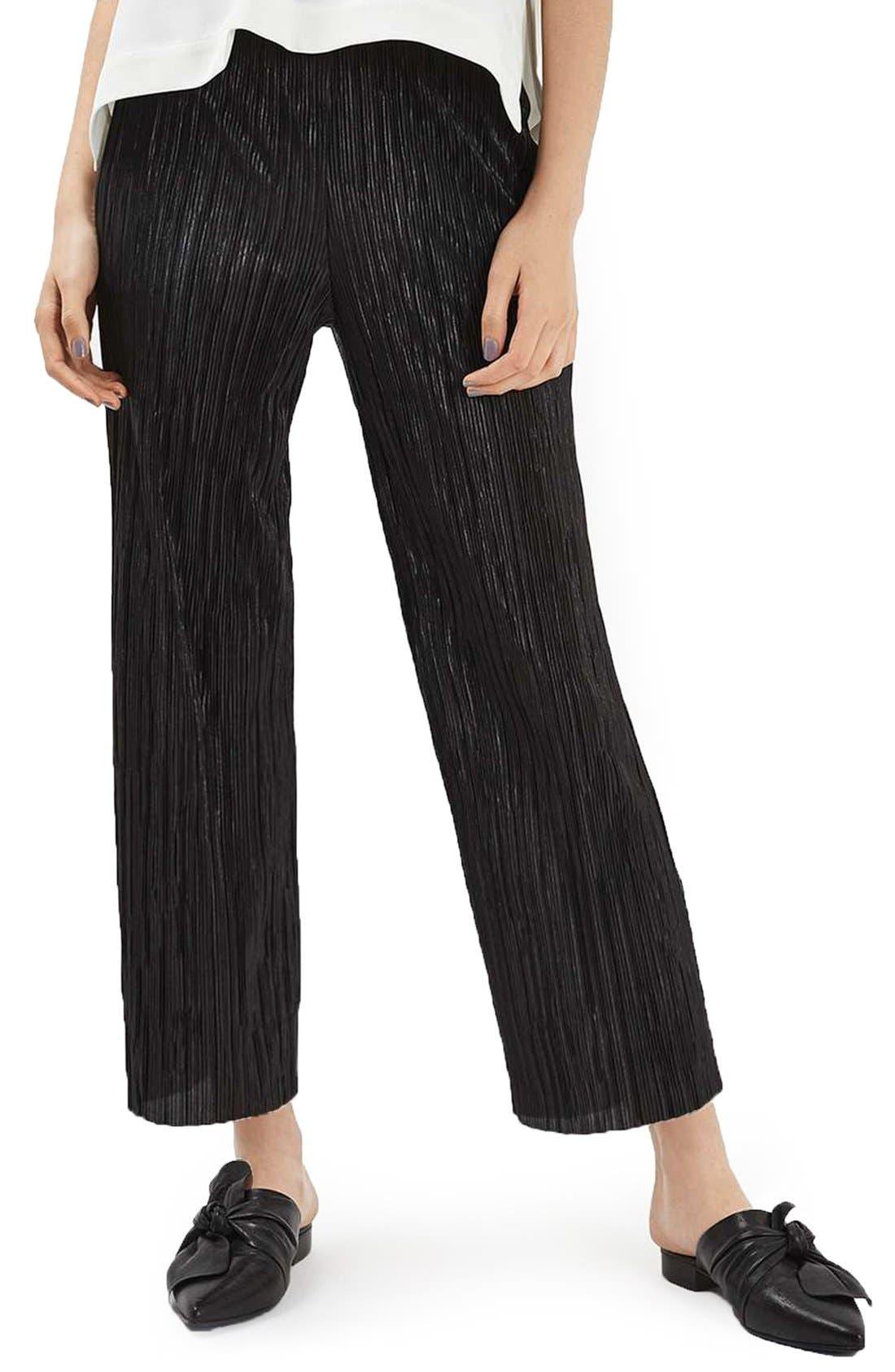 Alternate Image 1 Selected - Topshop Plissé Trousers