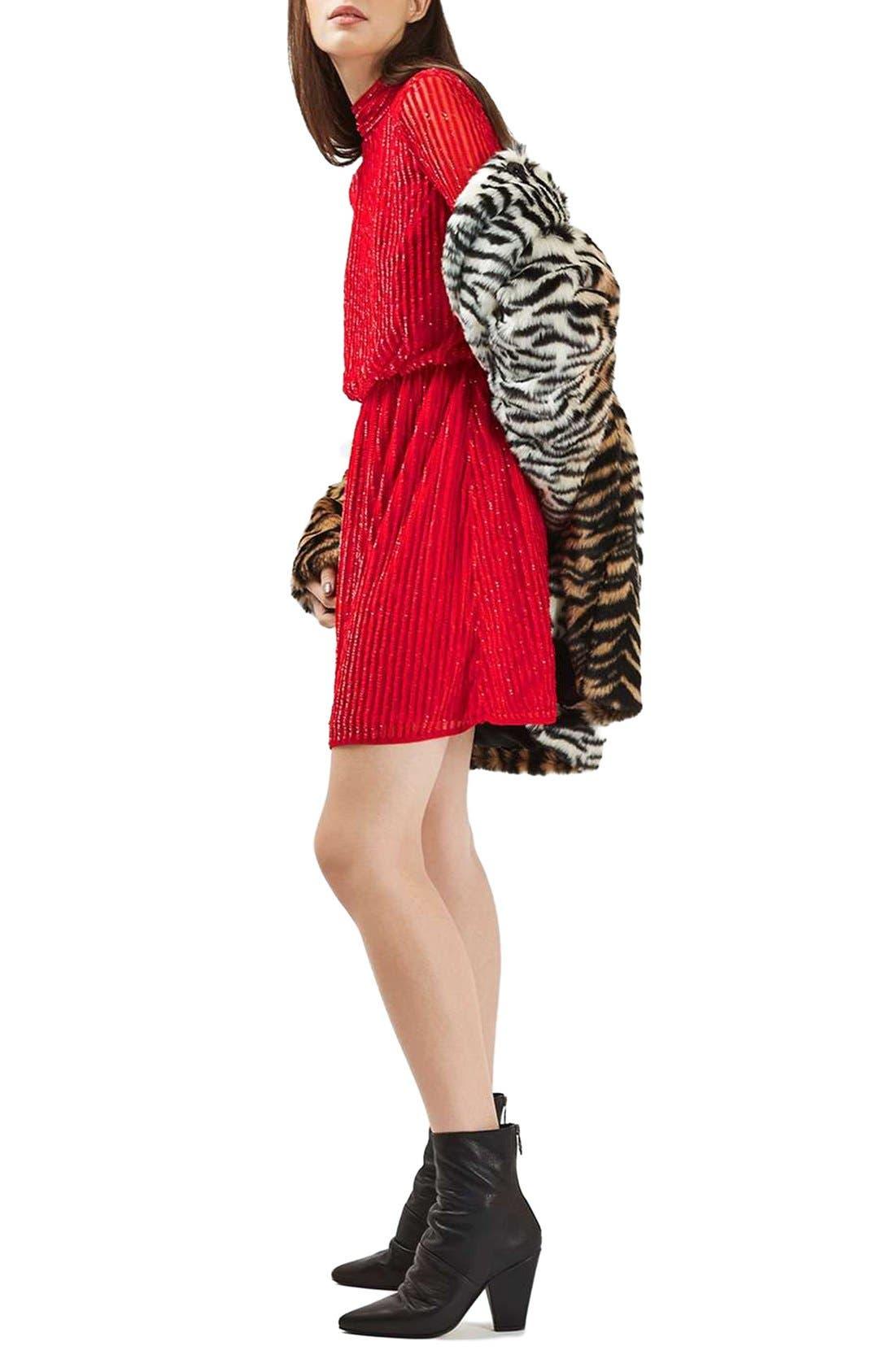 Alternate Image 2  - Topshop Sequin Blouson Dress