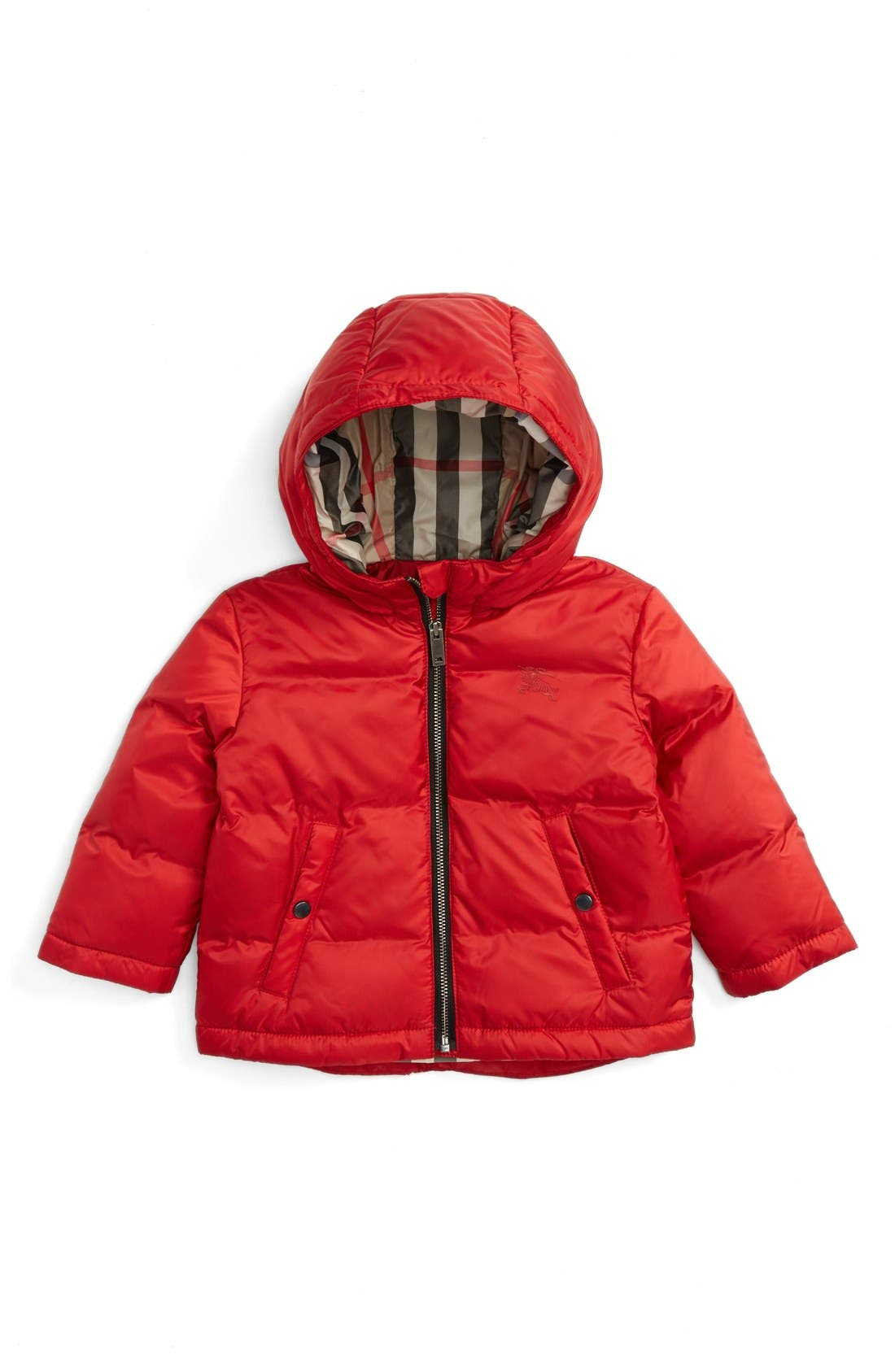 Alternate Image 1 Selected - Burberry Rio Hooded Puffer Jacket (Baby Girls)