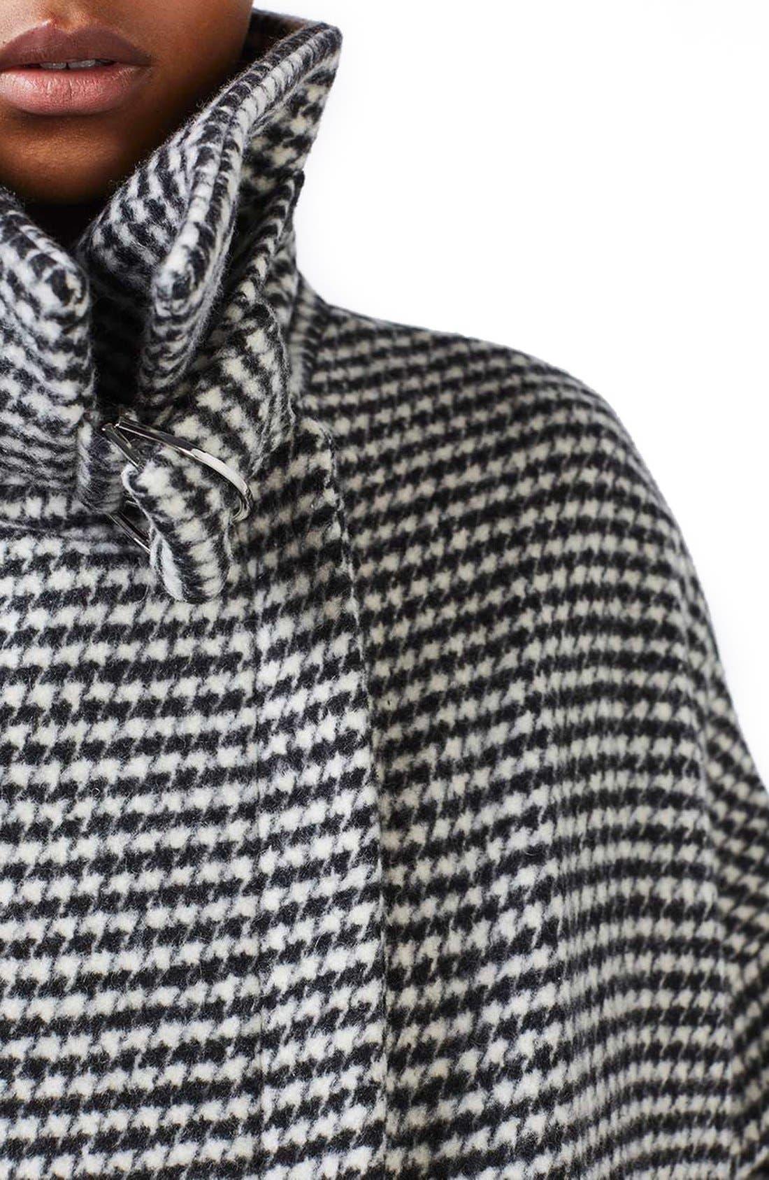 Alternate Image 5  - Topshop Funnel Neck Houndstooth Coat