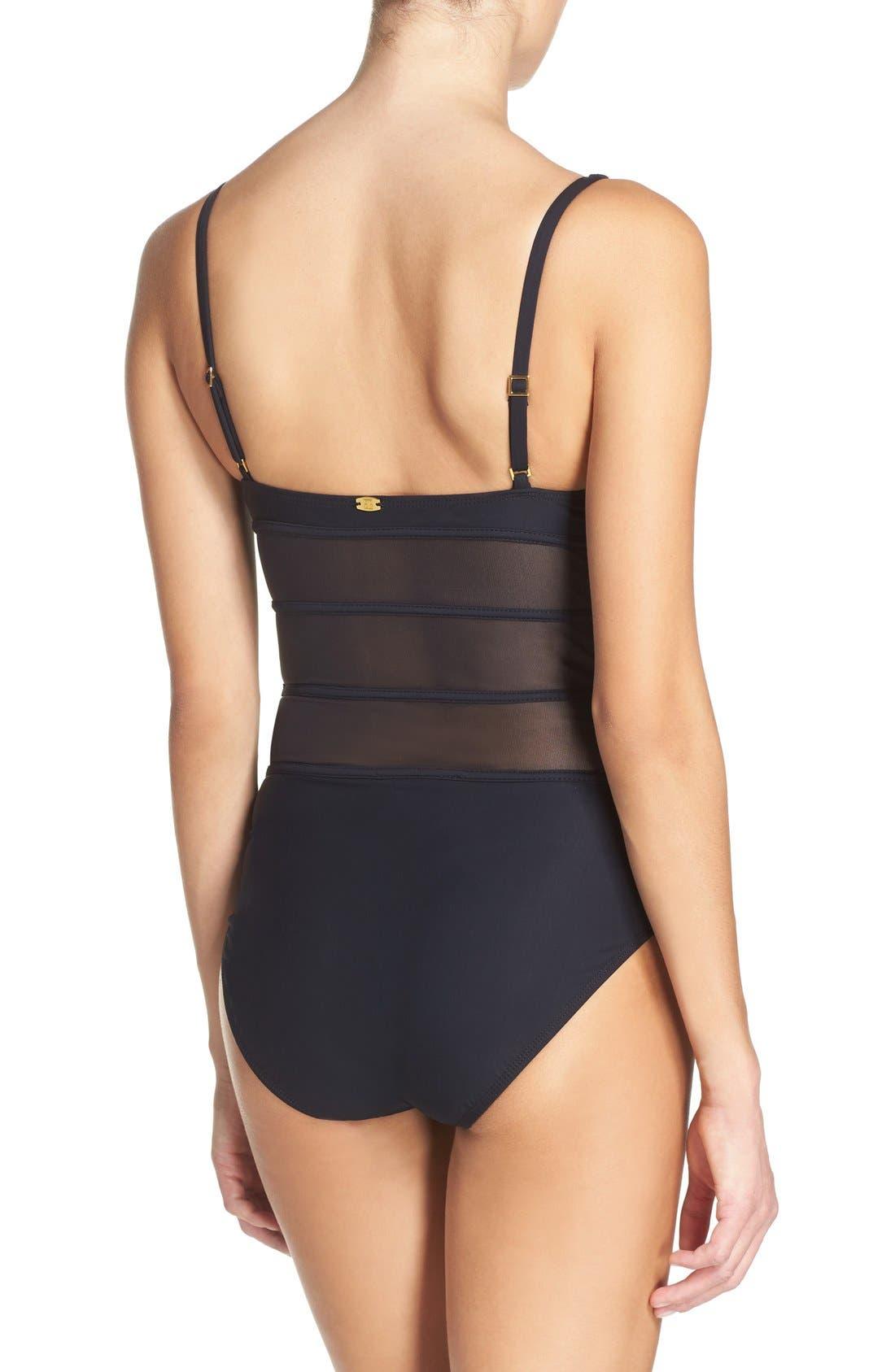 Alternate Image 2  - Amoressa Net Neutrality One-Piece Swimsuit
