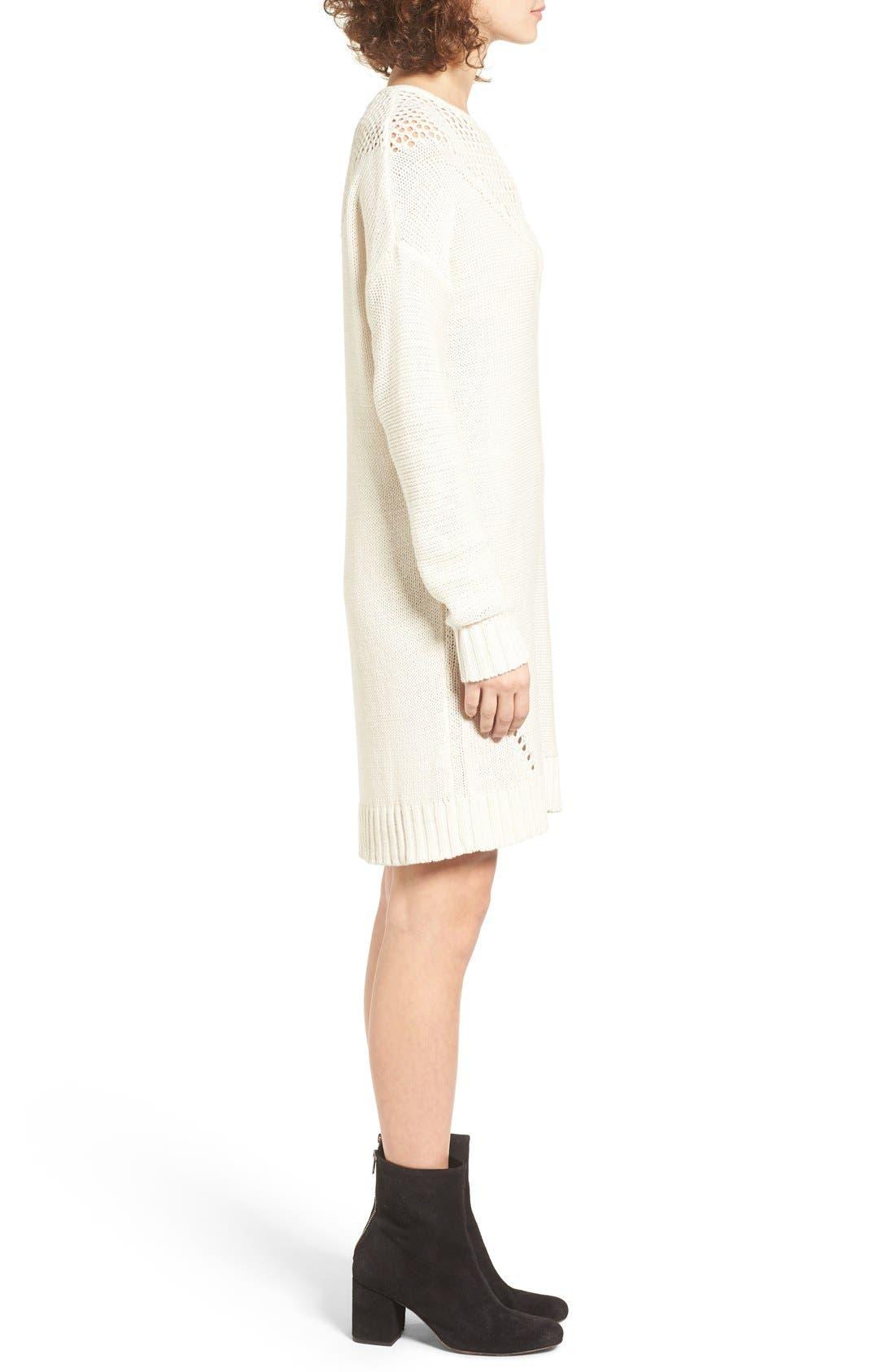 Alternate Image 3  - Roxy Borrowed Time Open Knit Sweater Dress