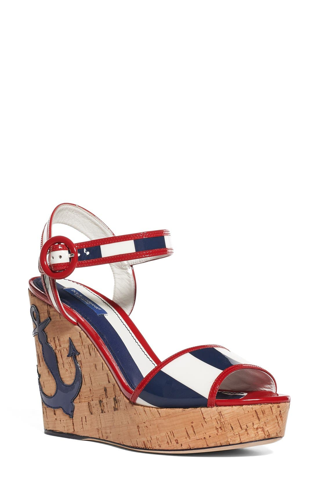 DOLCE&GABBANA Nautical Wedge Sandal