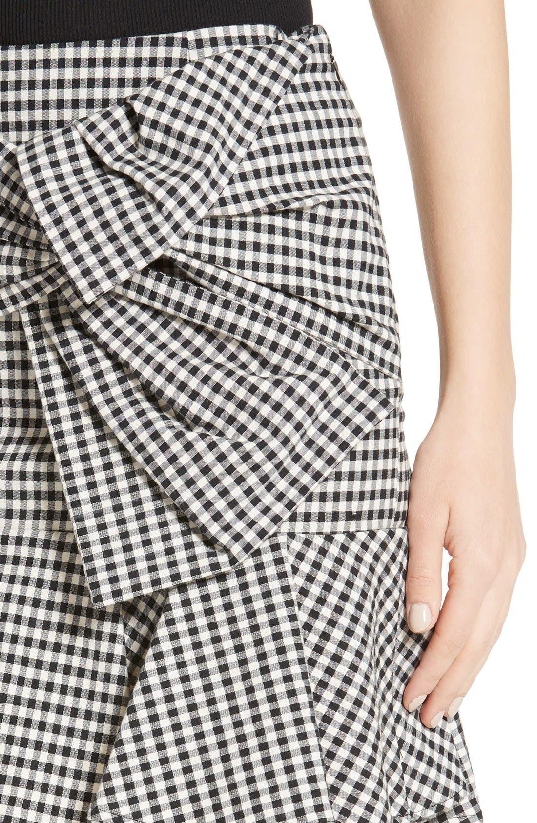 Alternate Image 4  - Veronica Beard Picnic Check Bow Miniskirt