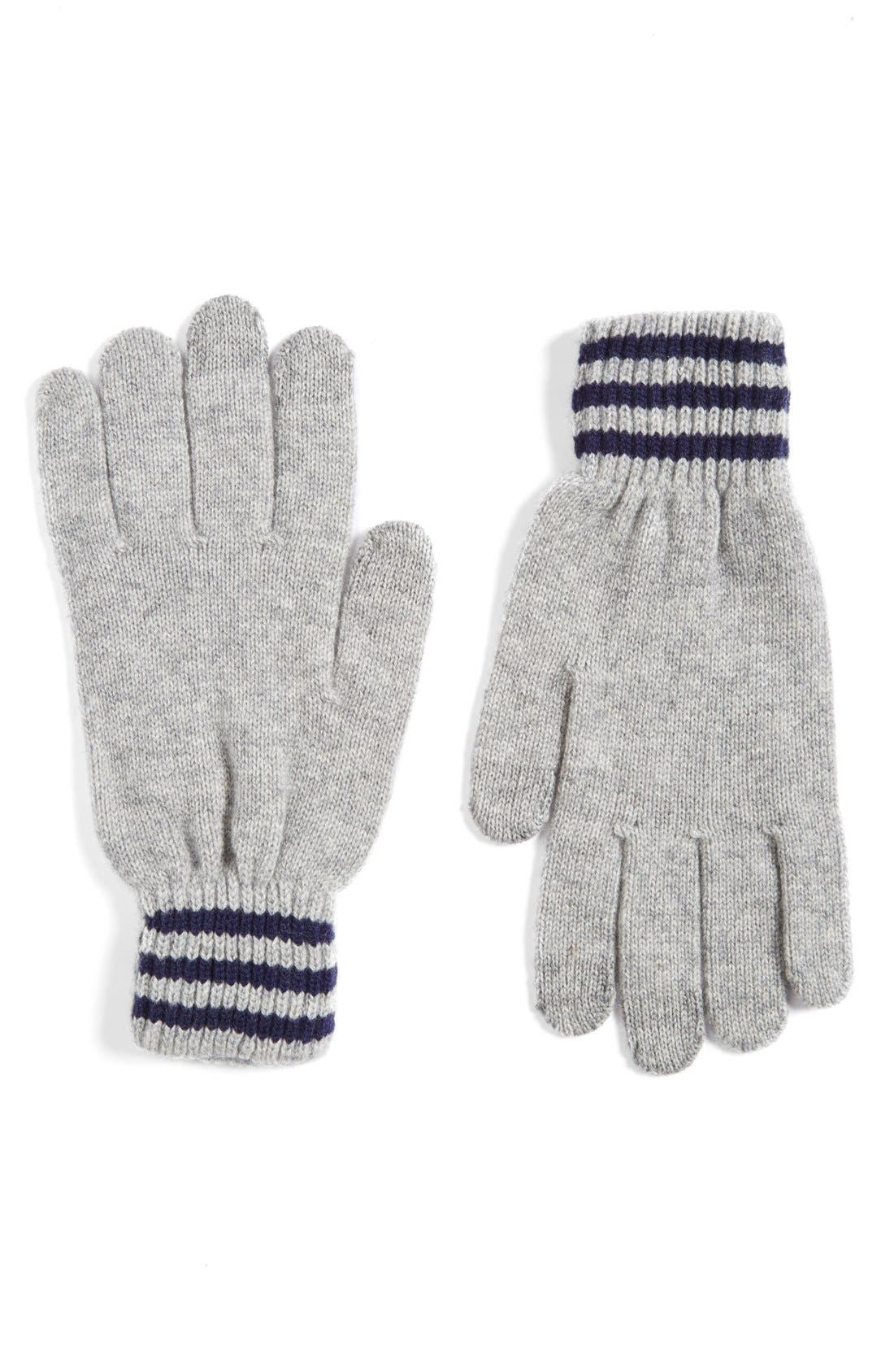 Alternate Image 1 Selected - Polo Ralph Lauren Rugby Stripe Wool & Cashmere Gloves