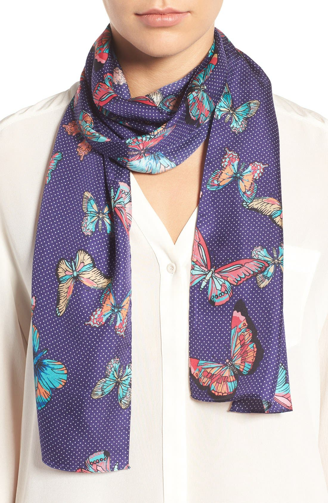 Alternate Image 1 Selected - Echo Butterfly Silk Scarf
