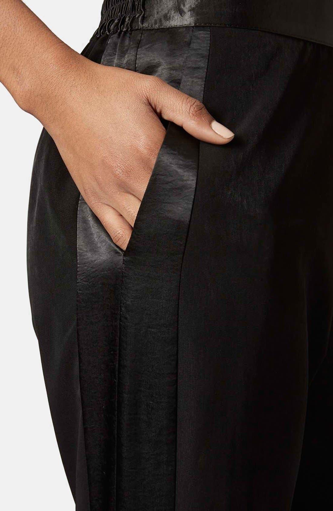 Alternate Image 4  - Topshop Stripe Jogger Pants