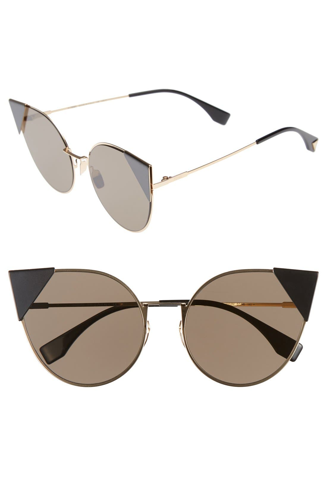 Alternate Image 1 Selected - Fendi 57mm Lei Cat Eye Sunglasses