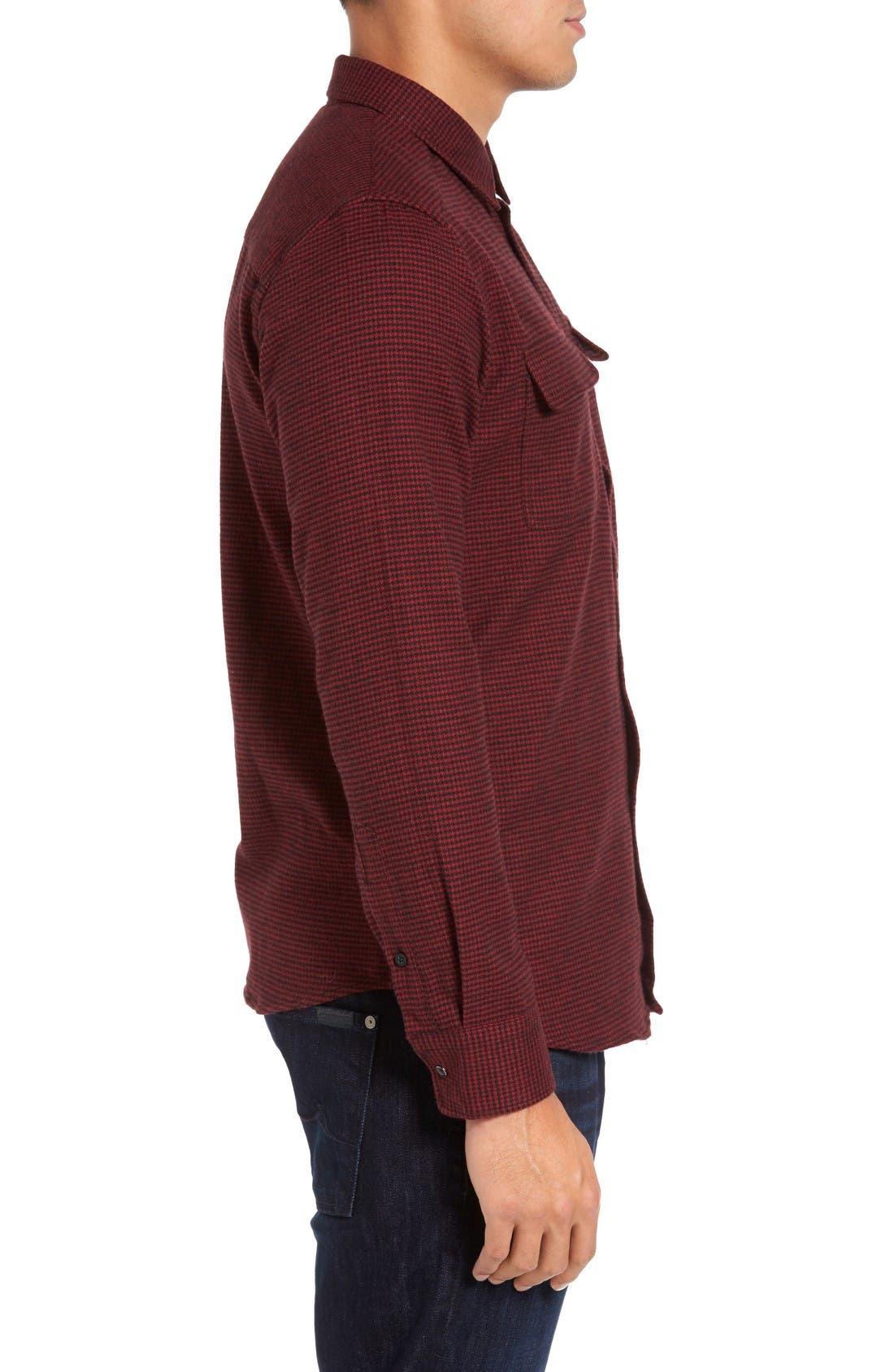 Alternate Image 3  - Slate & Stone Parker Slim Fit Houndstooth Flannel Shirt