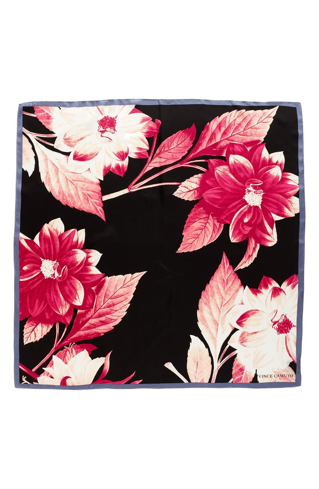 Alternate Image 2  - Vince Camuto Floating Florals Square Silk Scarf