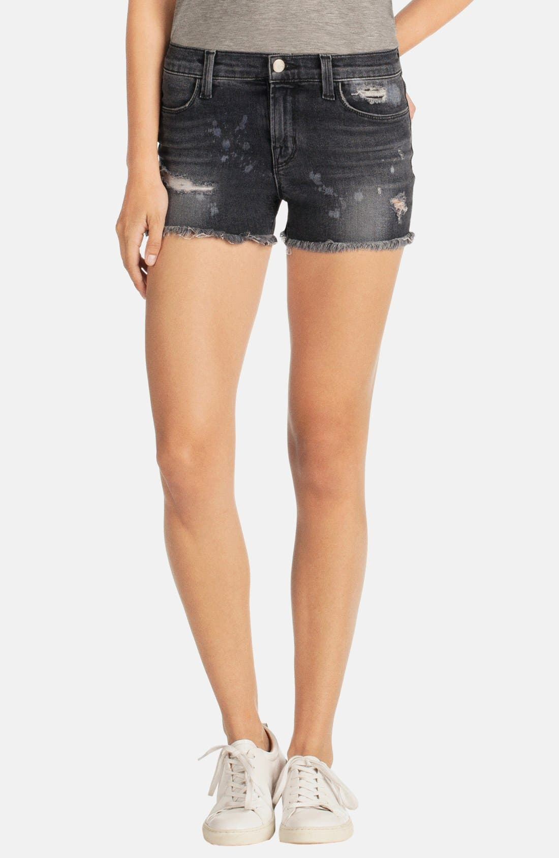 Alternate Image 1 Selected - J Brand 'Mia' Denim Cutoff Shorts (Vagabond)