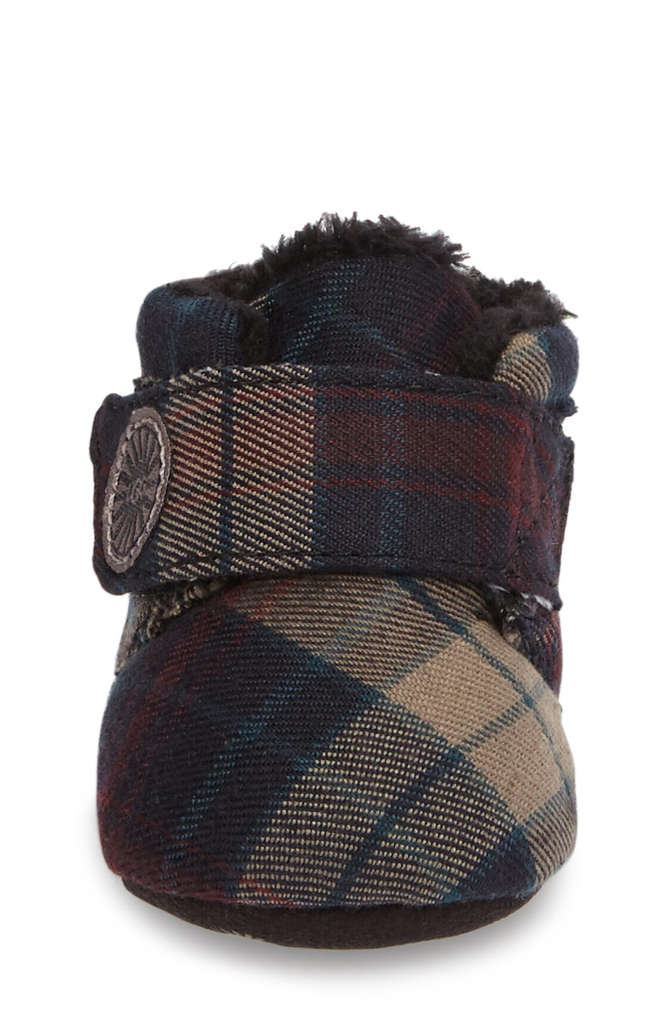 Alternate Image 3  - UGG® Bixbee Plaid Crib Bootie (Baby)