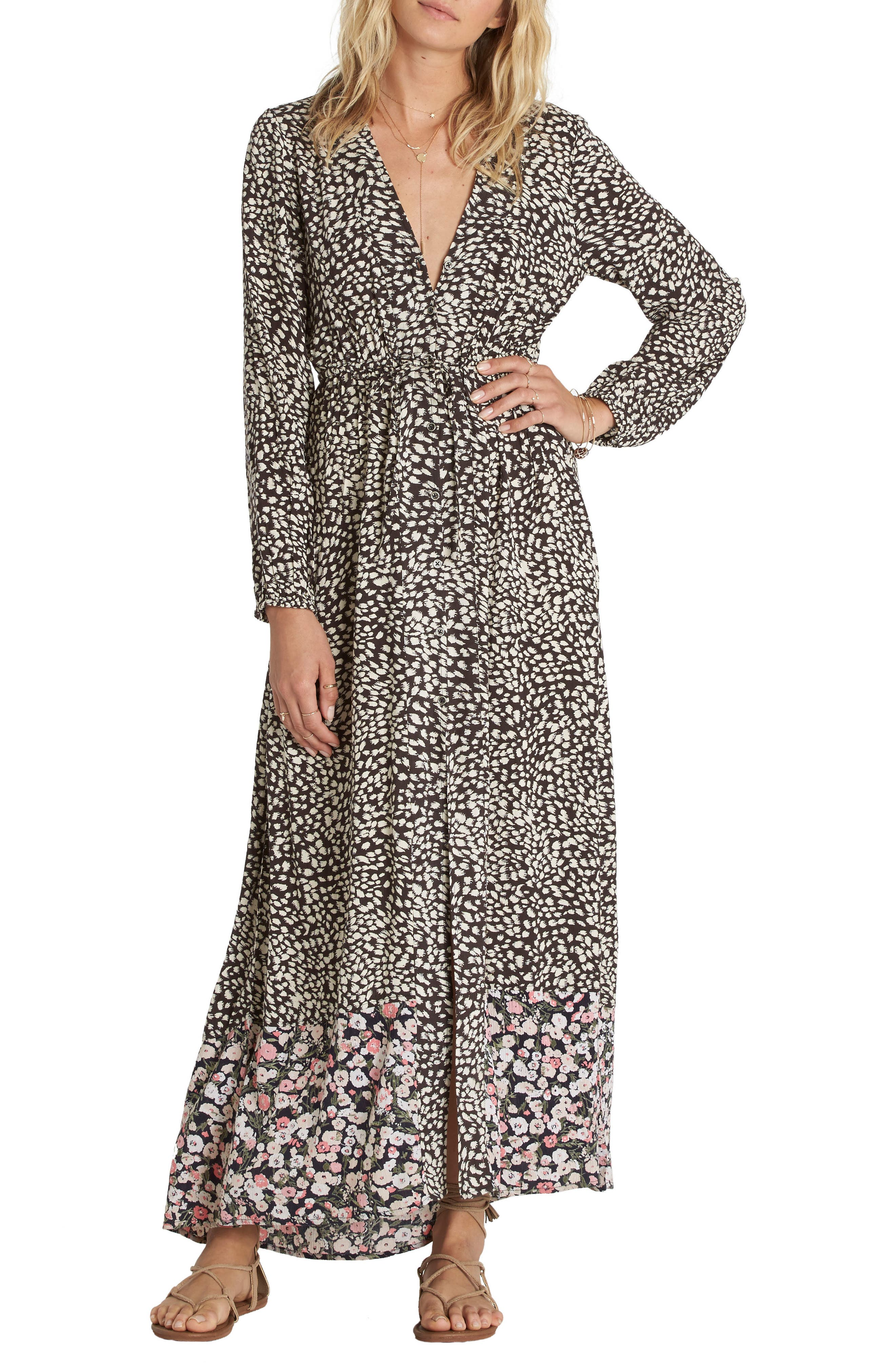 Alternate Image 1 Selected - Billabong Allegra Print Maxi Dress