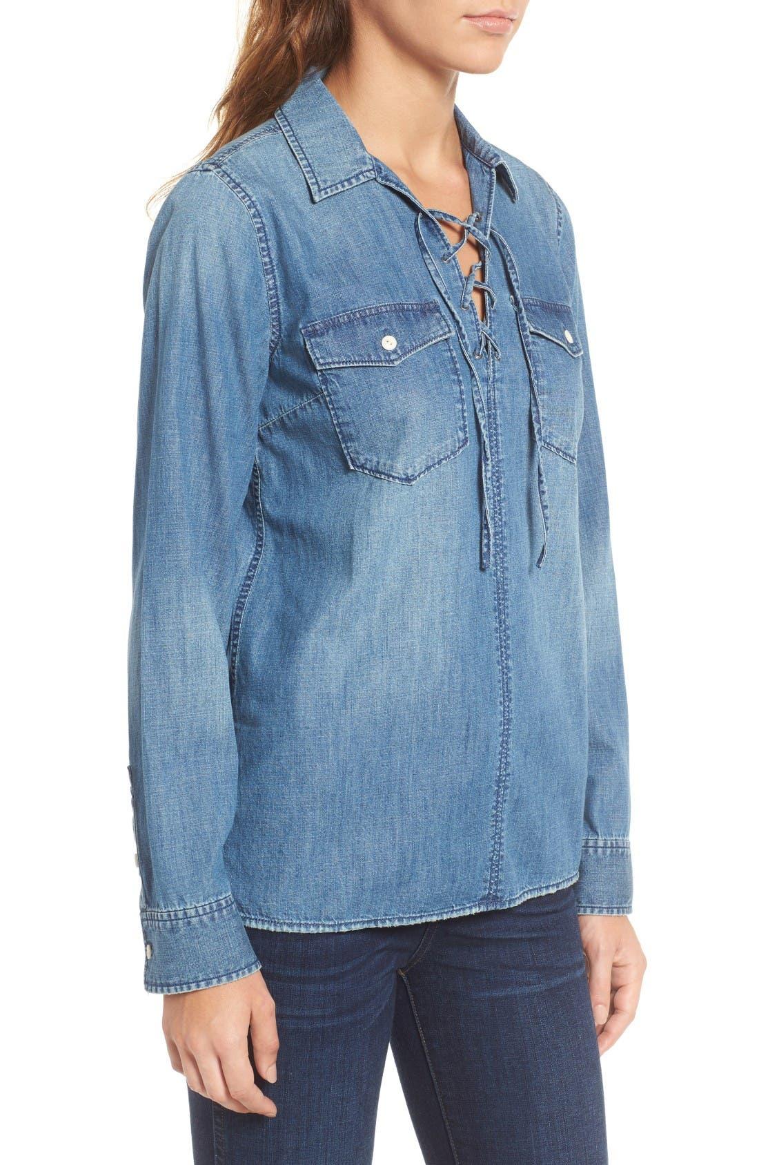 Alternate Image 3  - Madewell Lace-Up Denim Shirt