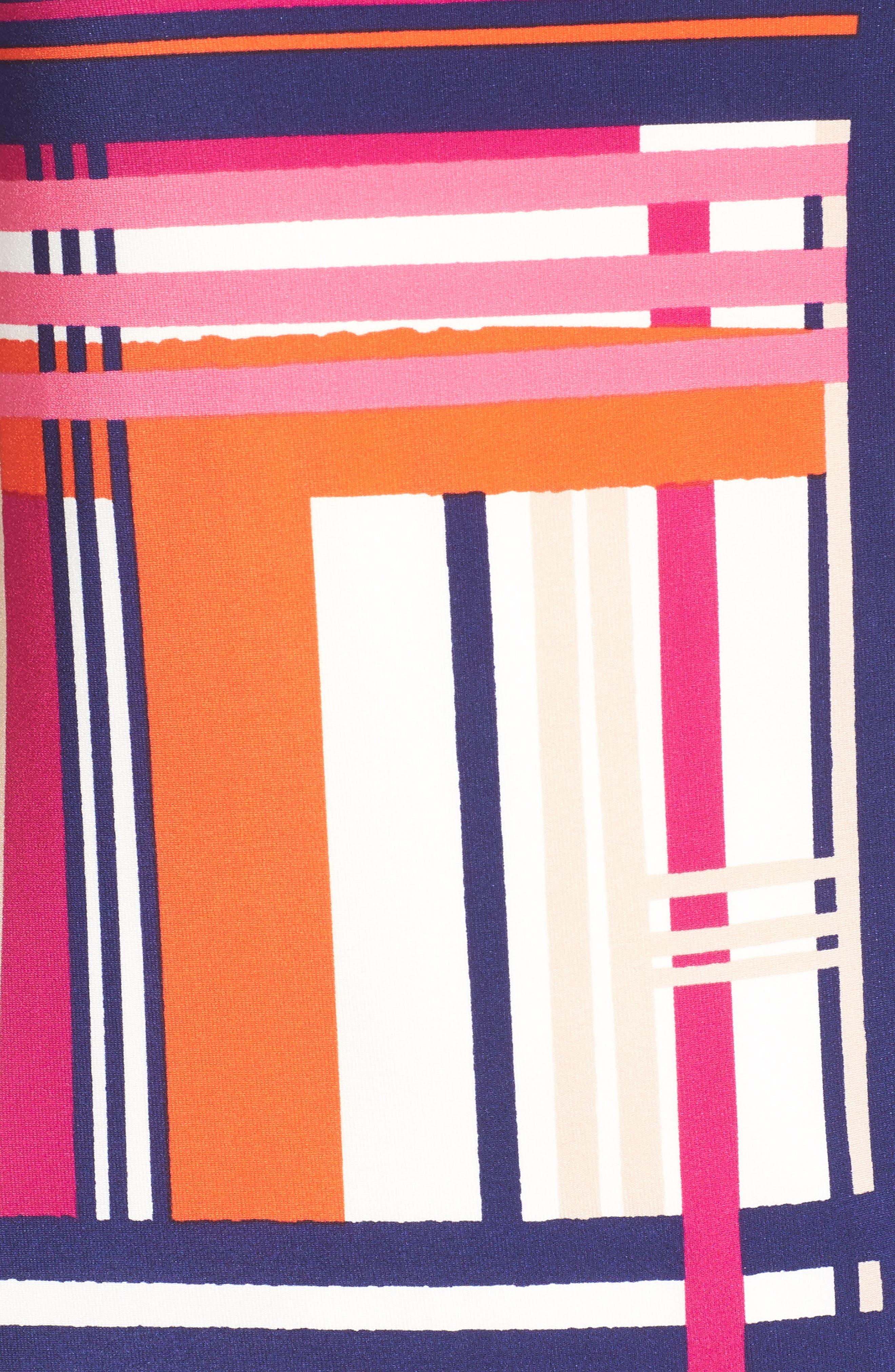 Alternate Image 6  - Eliza J Print Jersey Elbow Sleeve Shift Dress (Regular & Petite)