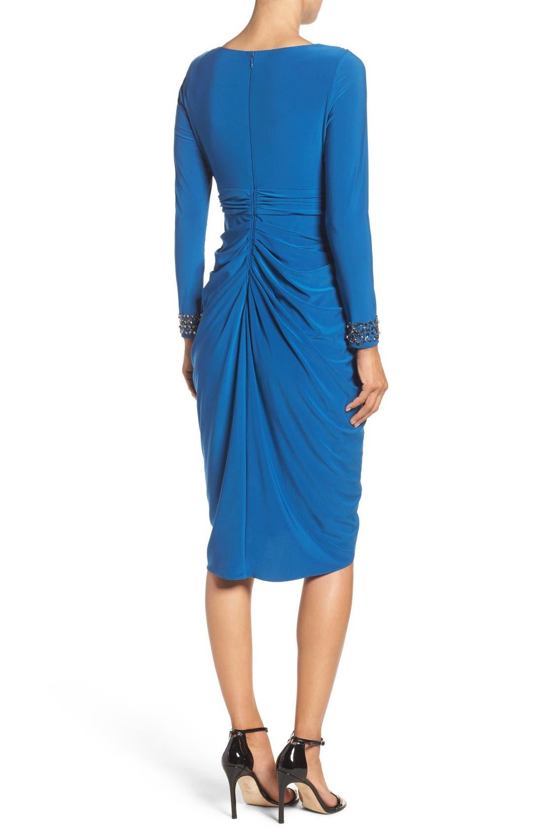 Alternate Image 2  - Adrianna Papell Embellished Wrap Dress (Regular & Petite)