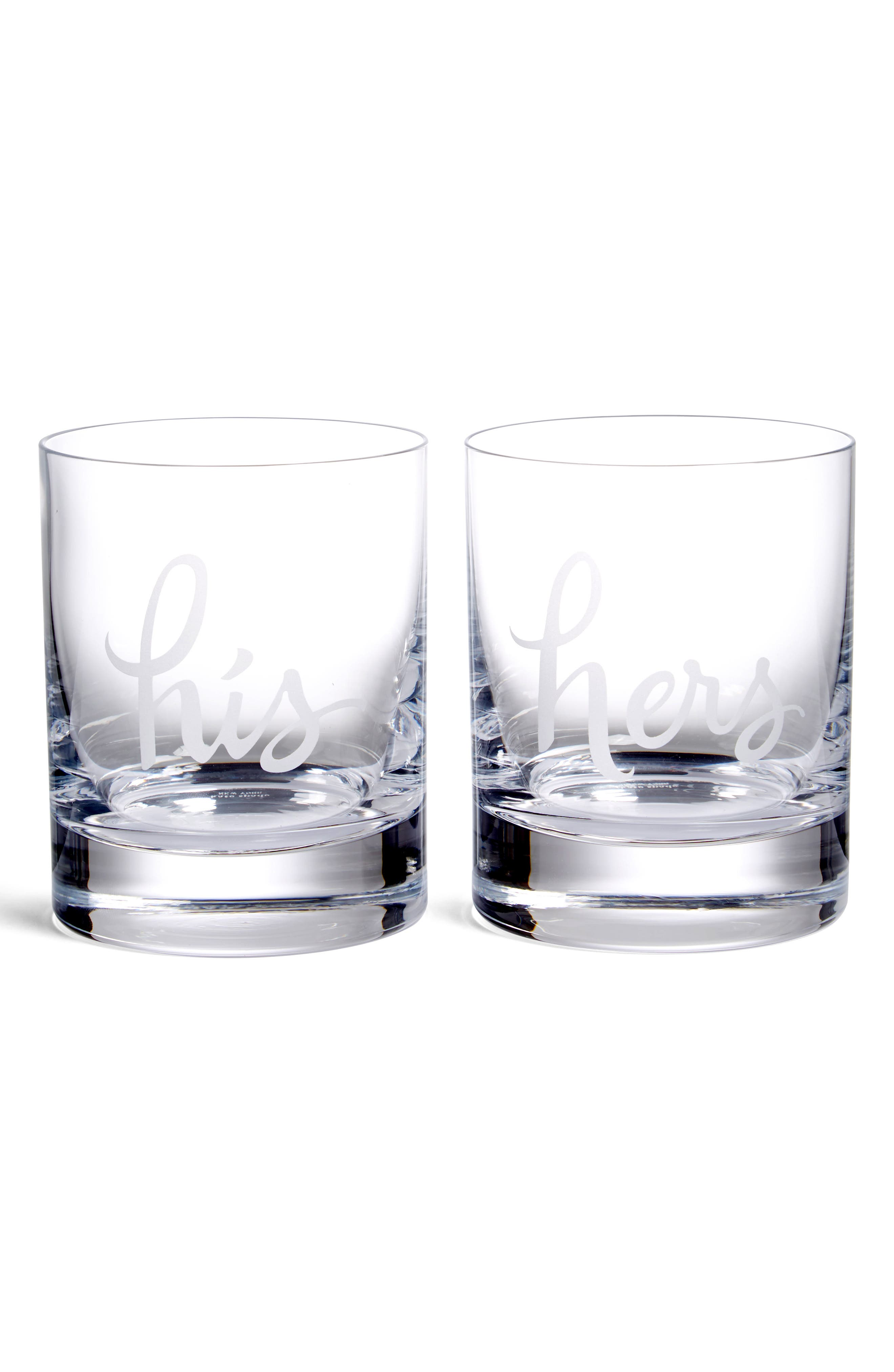 Alternate Image 1 Selected - kate spade new york 'two of a kind' glasses (Set of 2)