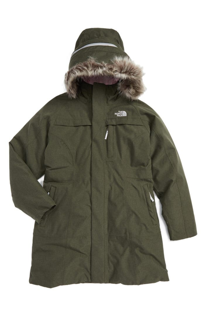 the north face arctic hooded down parka with removable. Black Bedroom Furniture Sets. Home Design Ideas