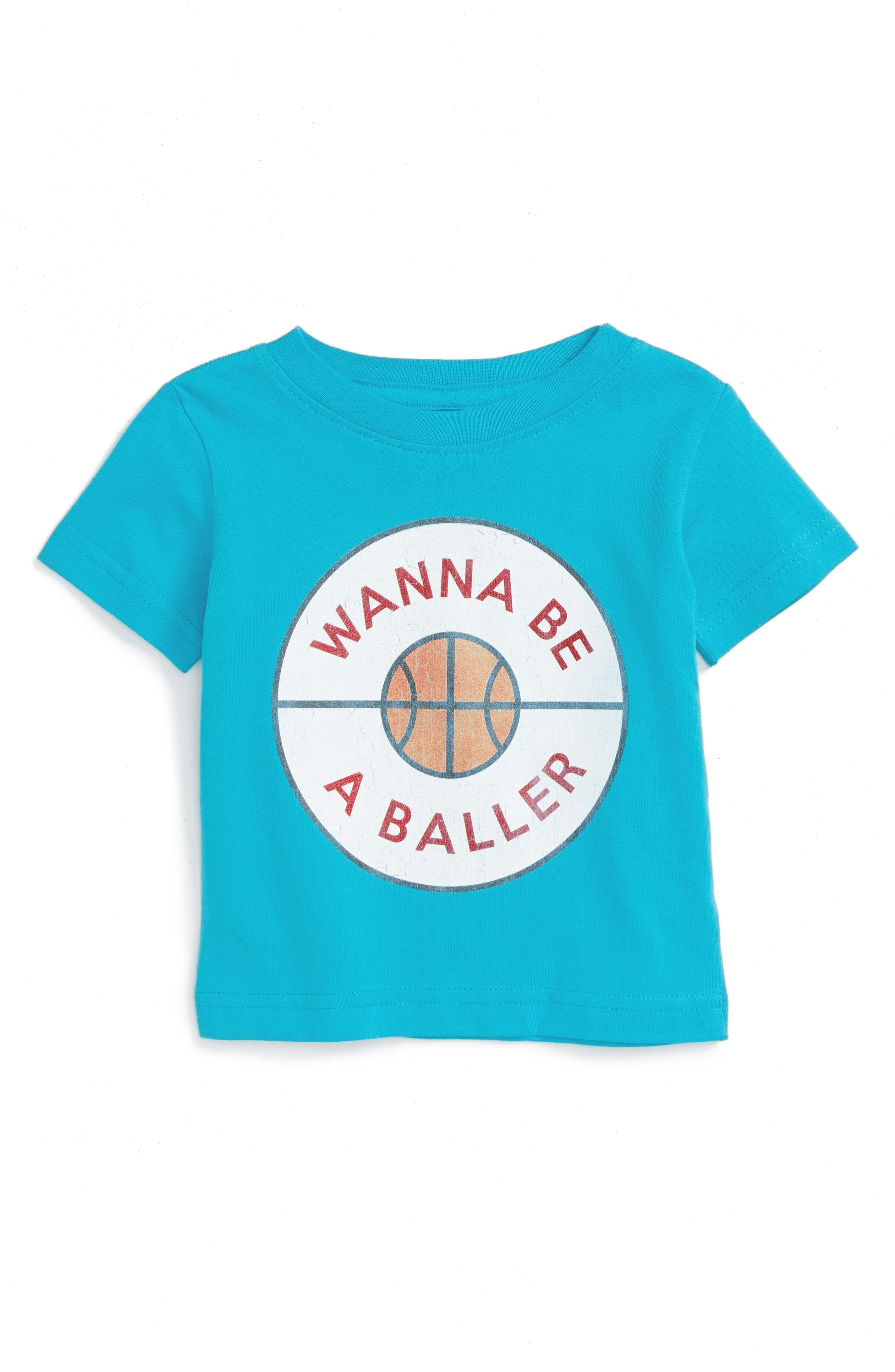 KID DANGEROUS Wanna Be a Baller Graphic T-Shirt