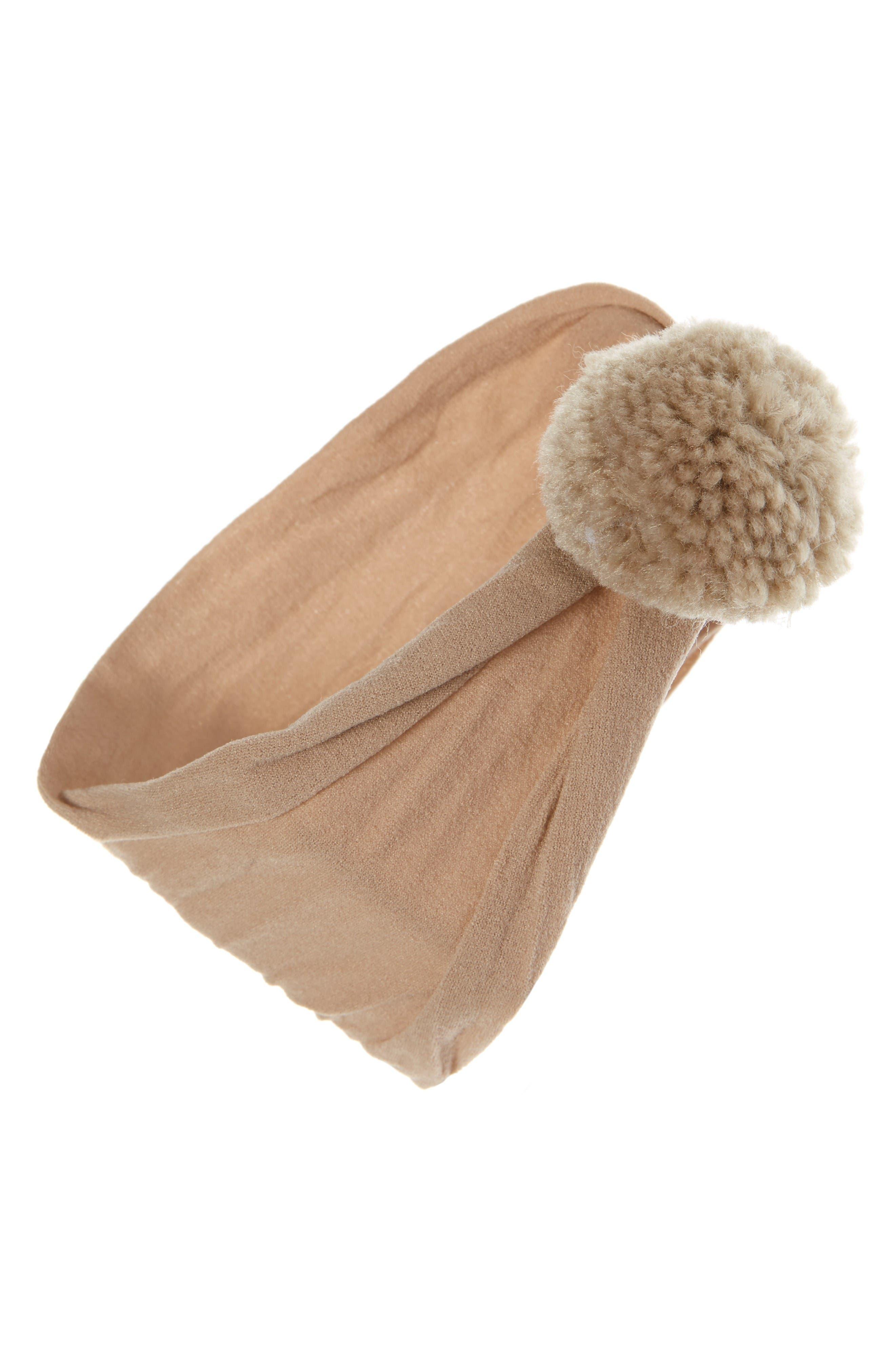 Alternate Image 1 Selected - Baby Bling Pompom Headband (Baby Girls)