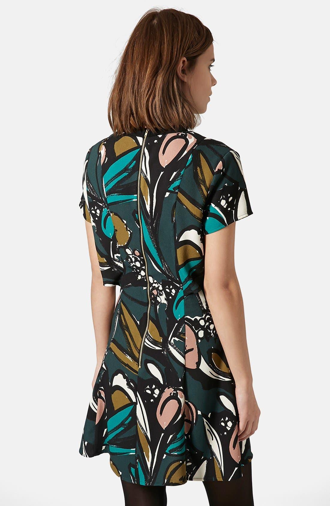 Alternate Image 2  - Topshop Floral Overlay Dress