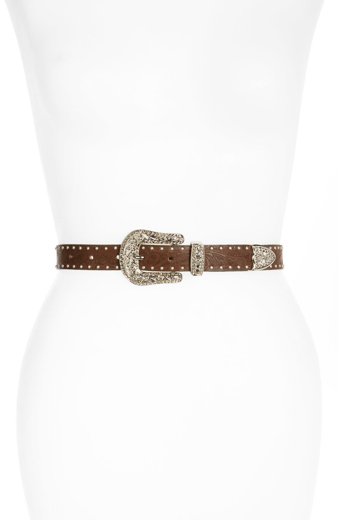 Alternate Image 1 Selected - Treasure & Bond Studded Leather Belt