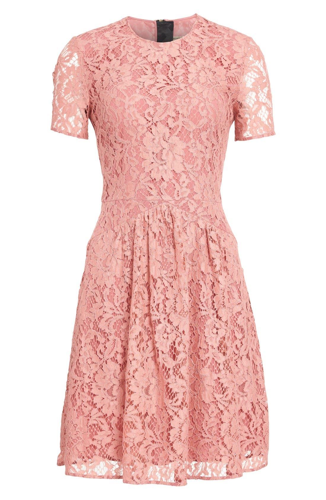 Alternate Image 4  - Burberry Christy Lace Fit & Flare Dress