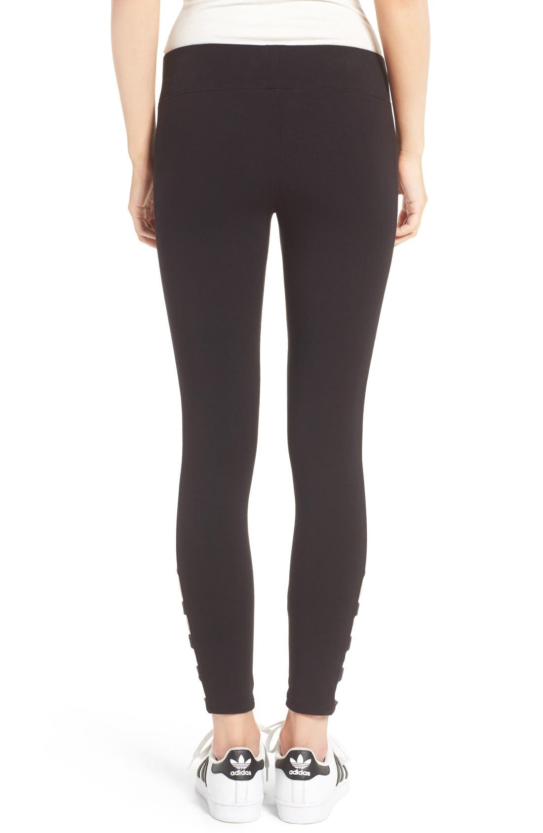 Alternate Image 2  - Hue Cutout Ankle Leggings