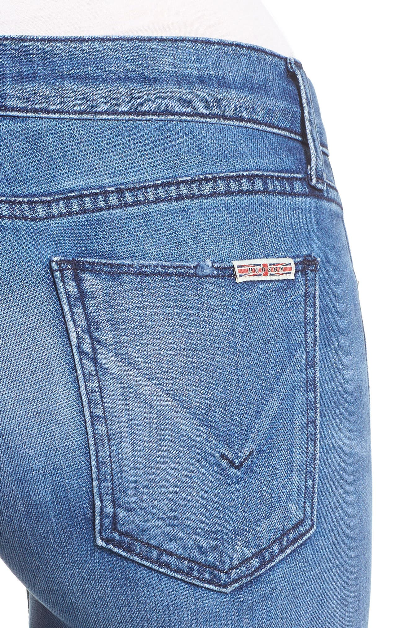 Alternate Image 4  - Hudson Tally Crop Skinny Jeans (Encounter)