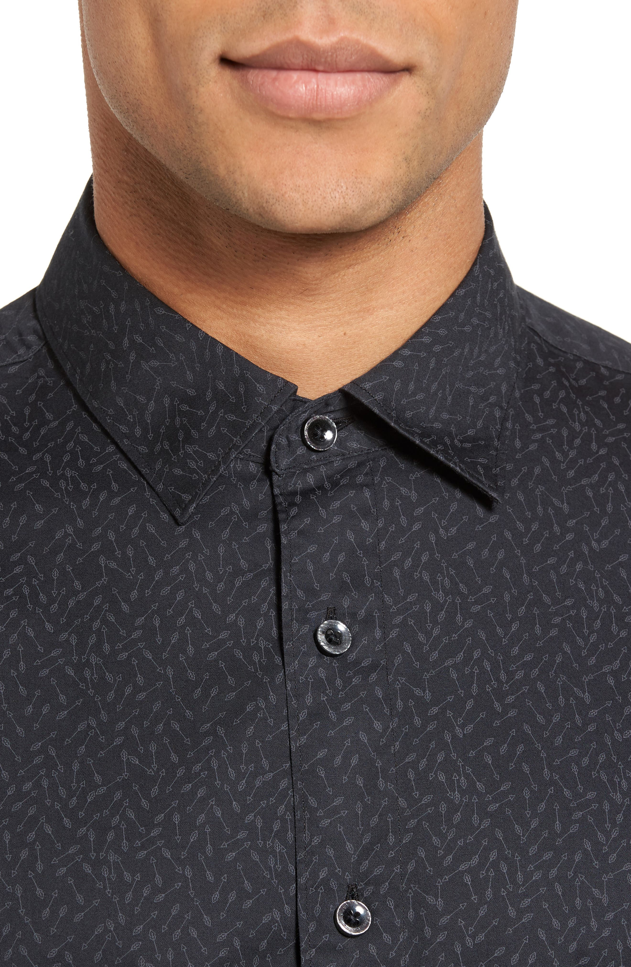 Alternate Image 4  - Slate & Stone Slim Fit Arrow Print Sport Shirt