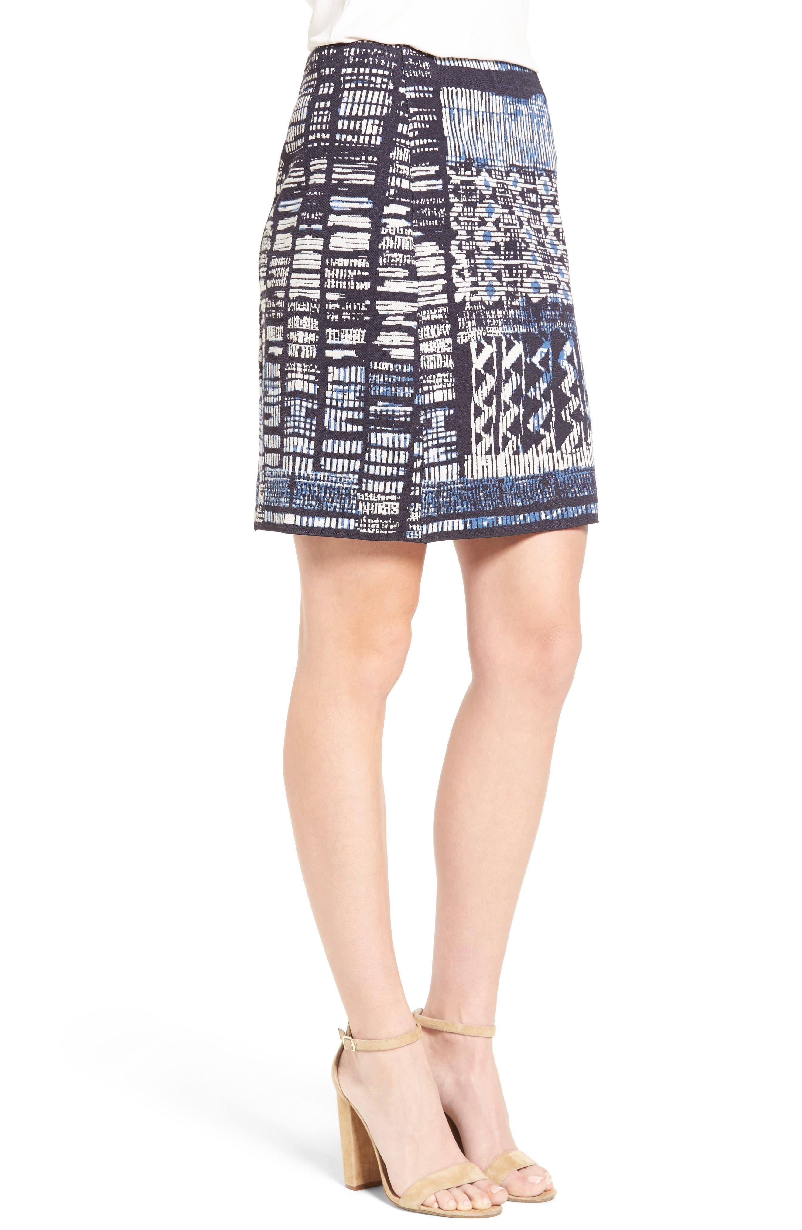 Alternate Image 3  - NIC+ZOE Blue Streak Skirt