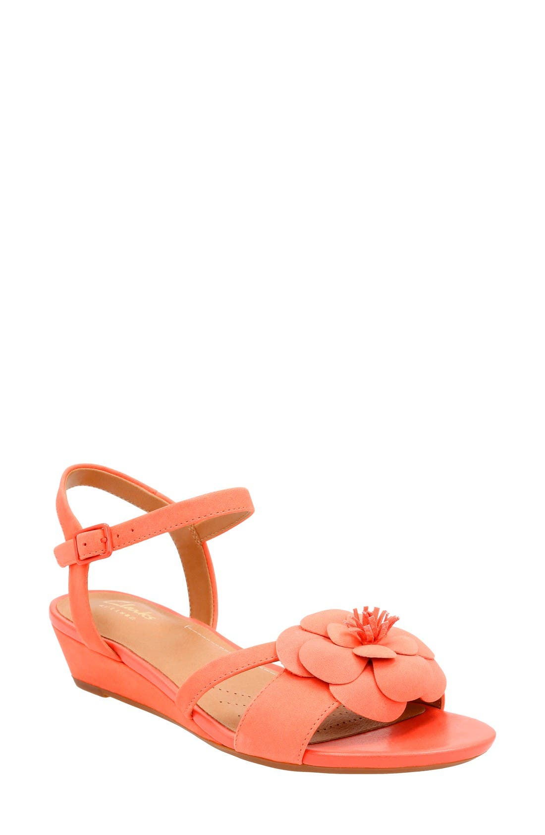 Clarks® Parram Stella Flower Wedge Sandal (Women)
