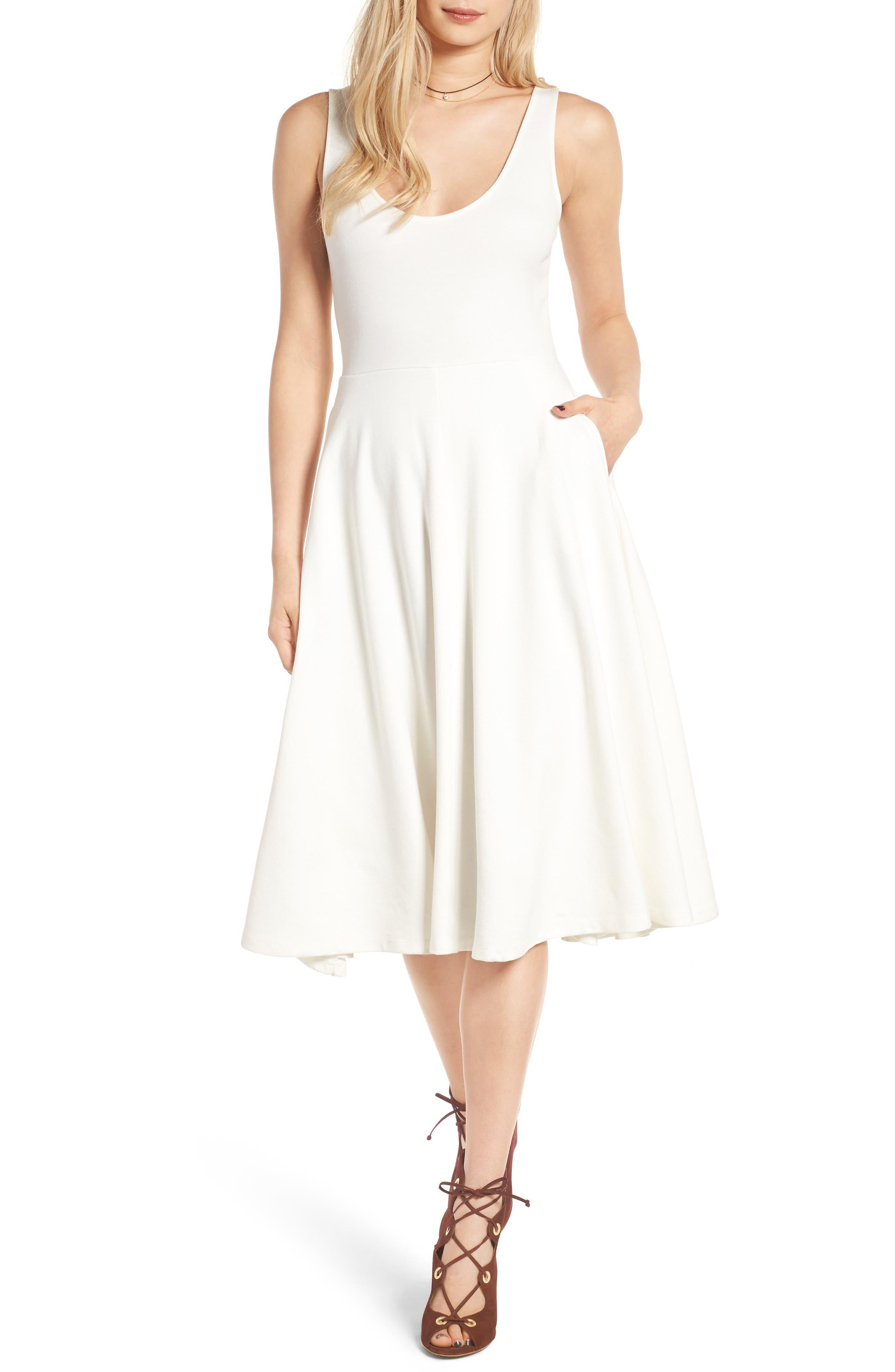Main Image - Leith Stretch Knit Midi Dress